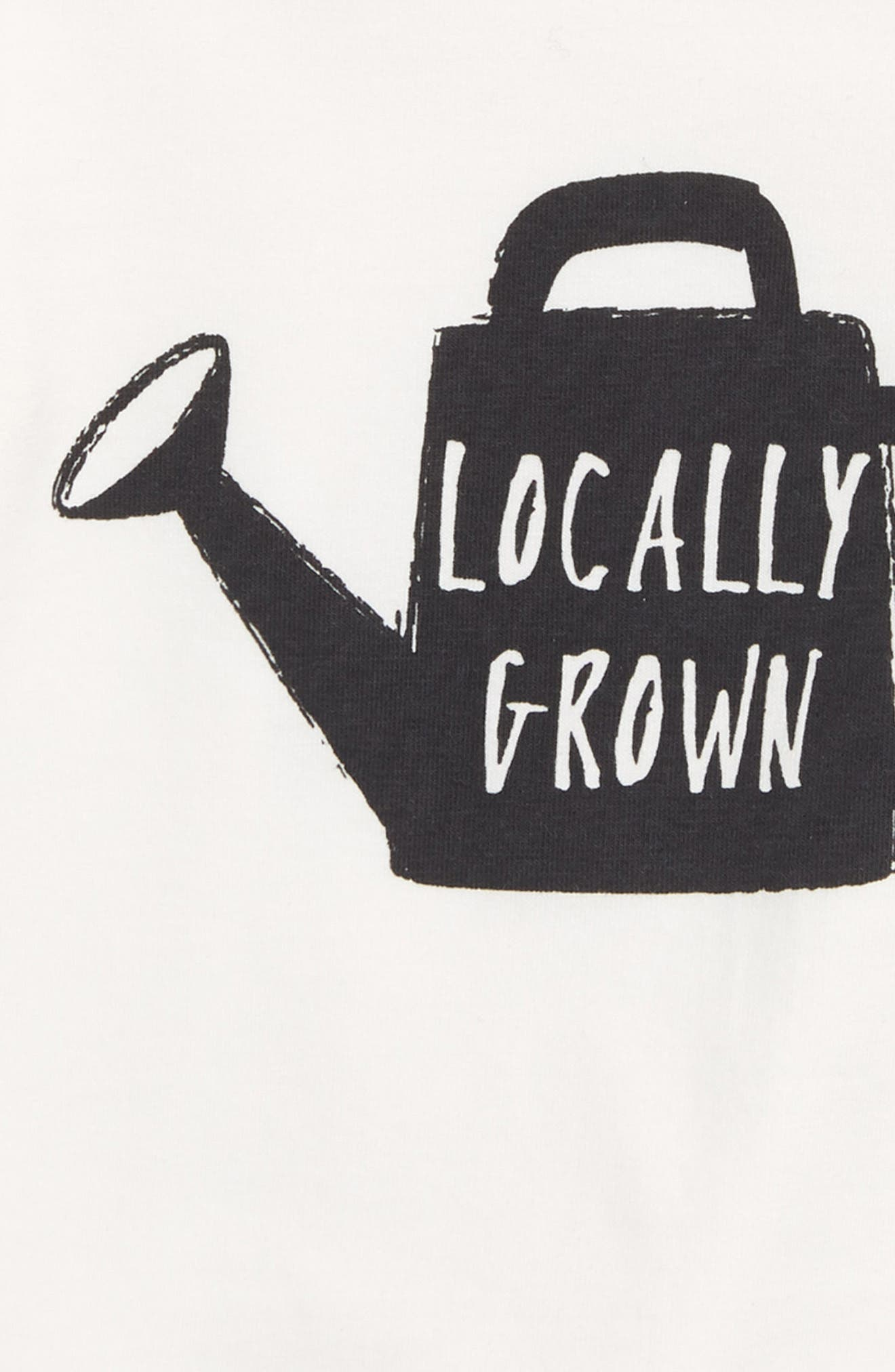 Locally Grown Graphic T-Shirt,                             Alternate thumbnail 2, color,                             Off White