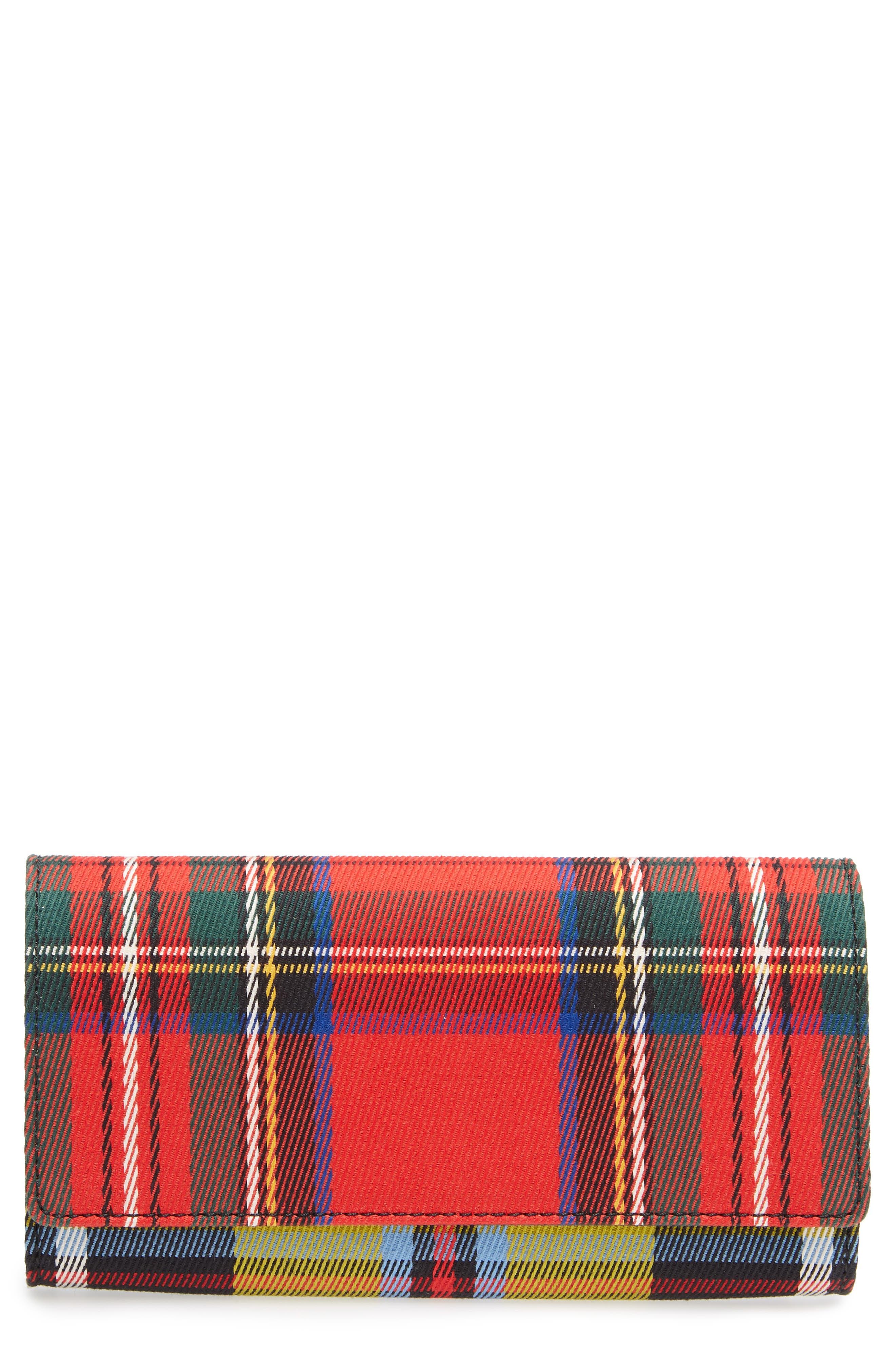Burberry Halton Tartan Mix Continental Wallet