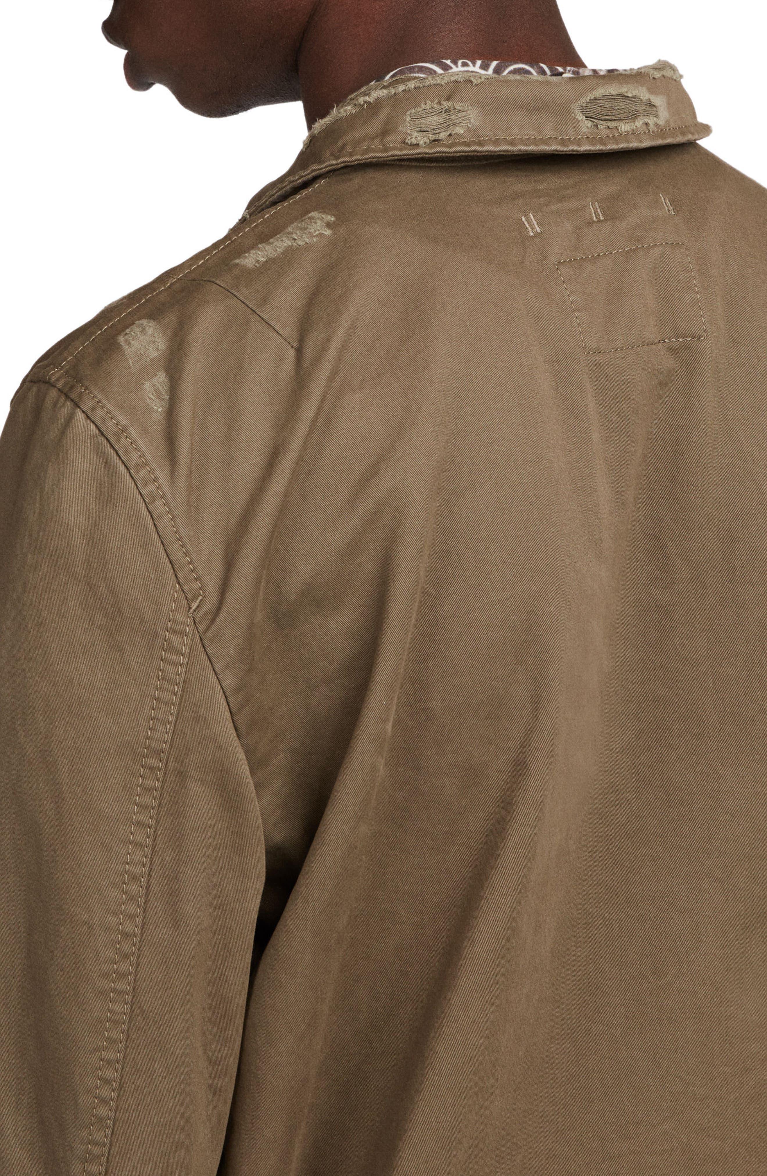 Sasaki Shirt Jacket,                             Alternate thumbnail 3, color,                             Khaki Green