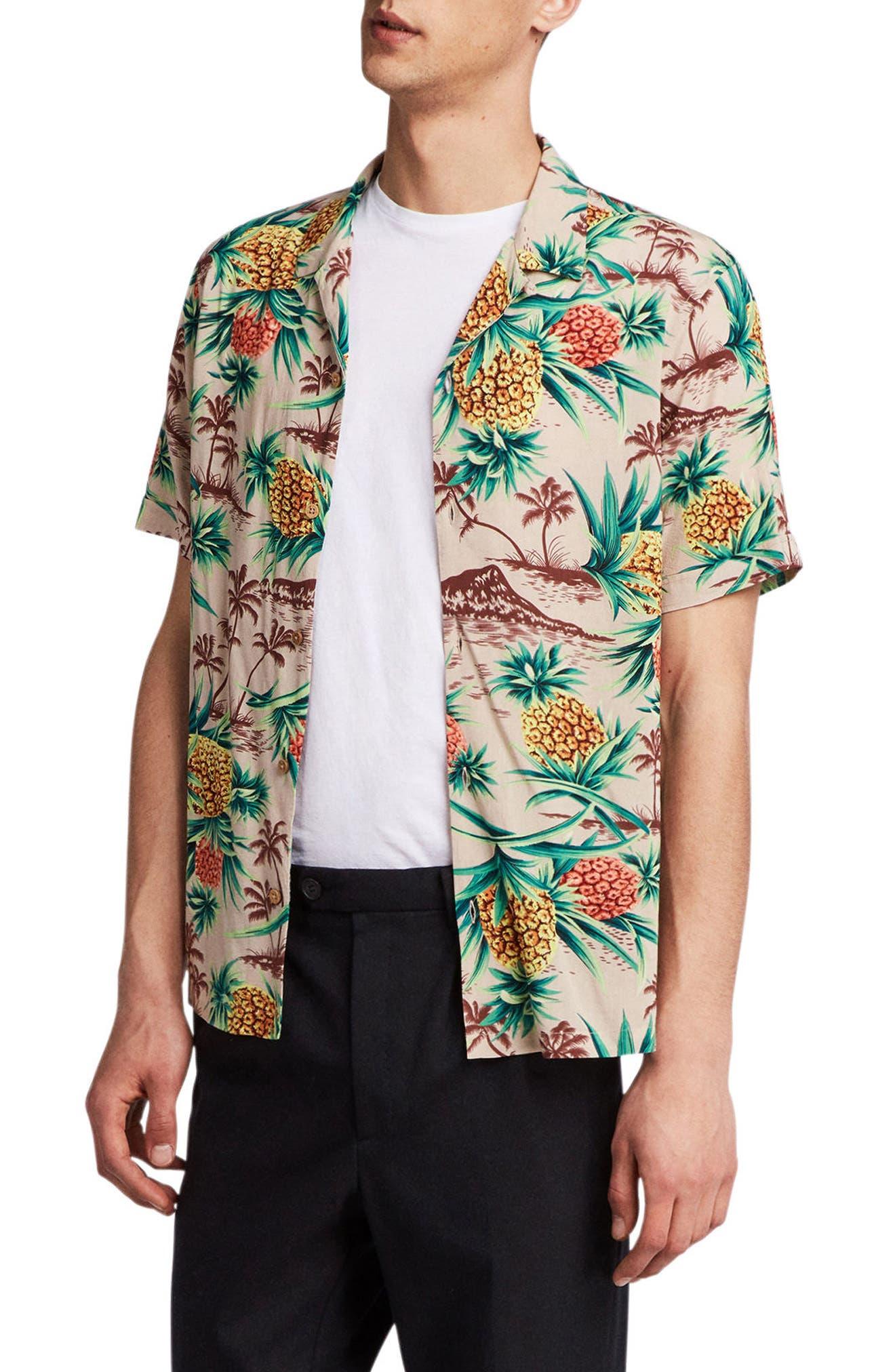 Endeavour Regular Fit Short Sleeve Sport Shirt,                         Main,                         color, Mushroom Brown