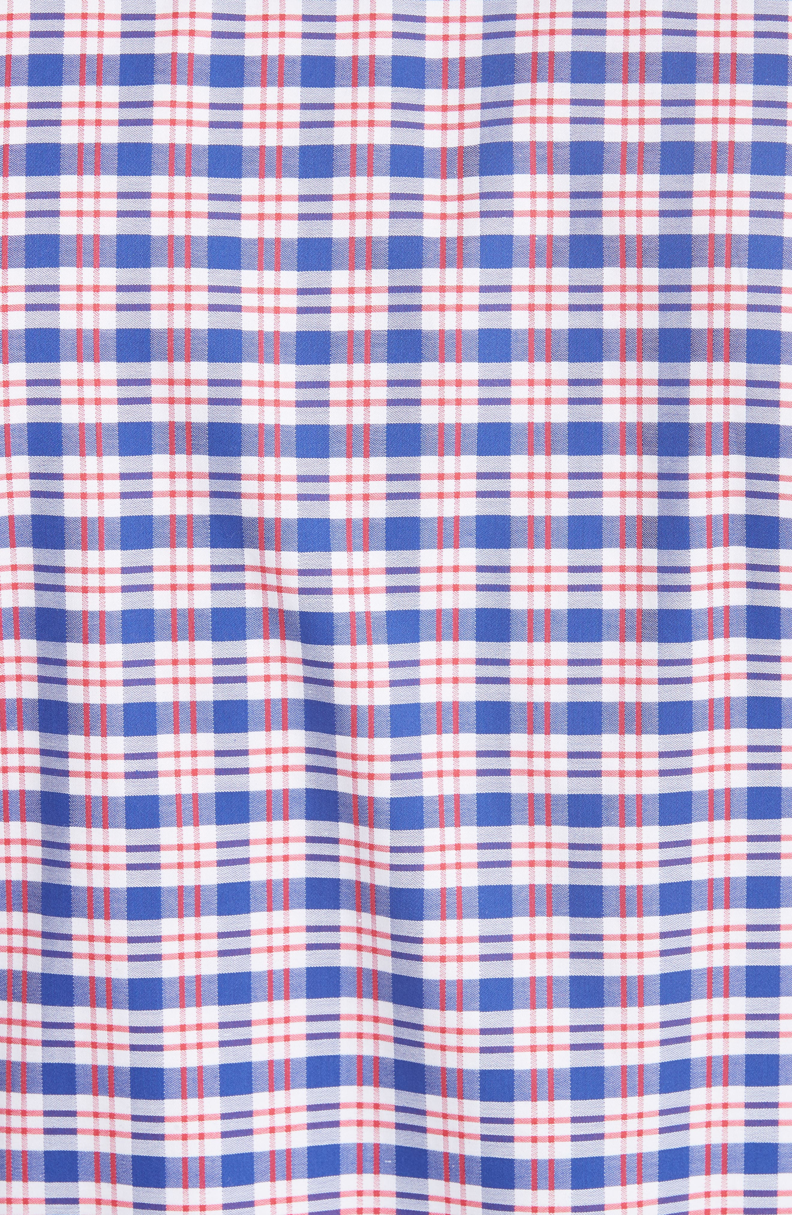 Regular Fit Plaid Sport Shirt,                             Alternate thumbnail 5, color,                             Red