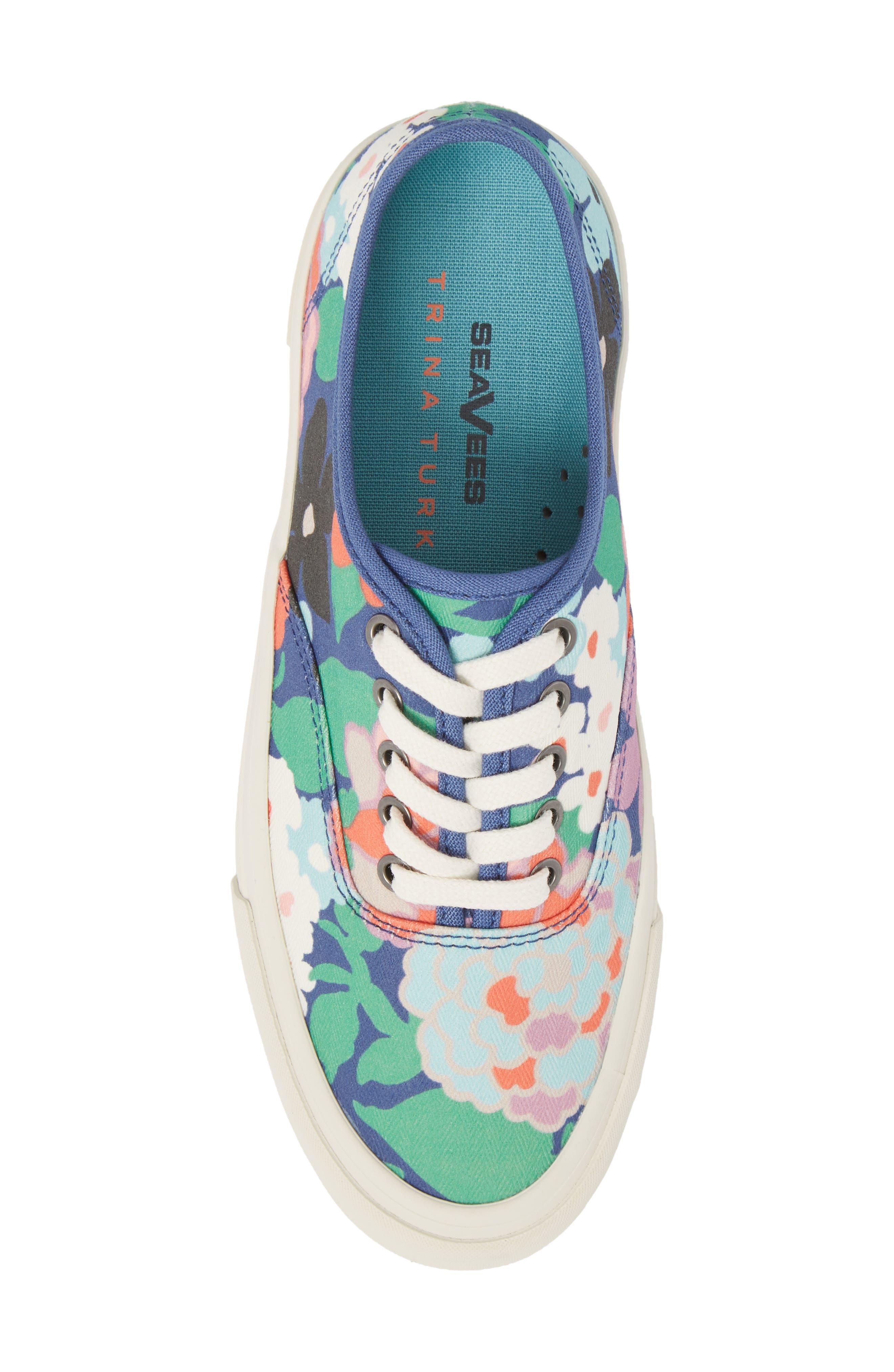 x Trina Turk Legend Sneaker,                             Alternate thumbnail 5, color,                             Greenhouse Floral