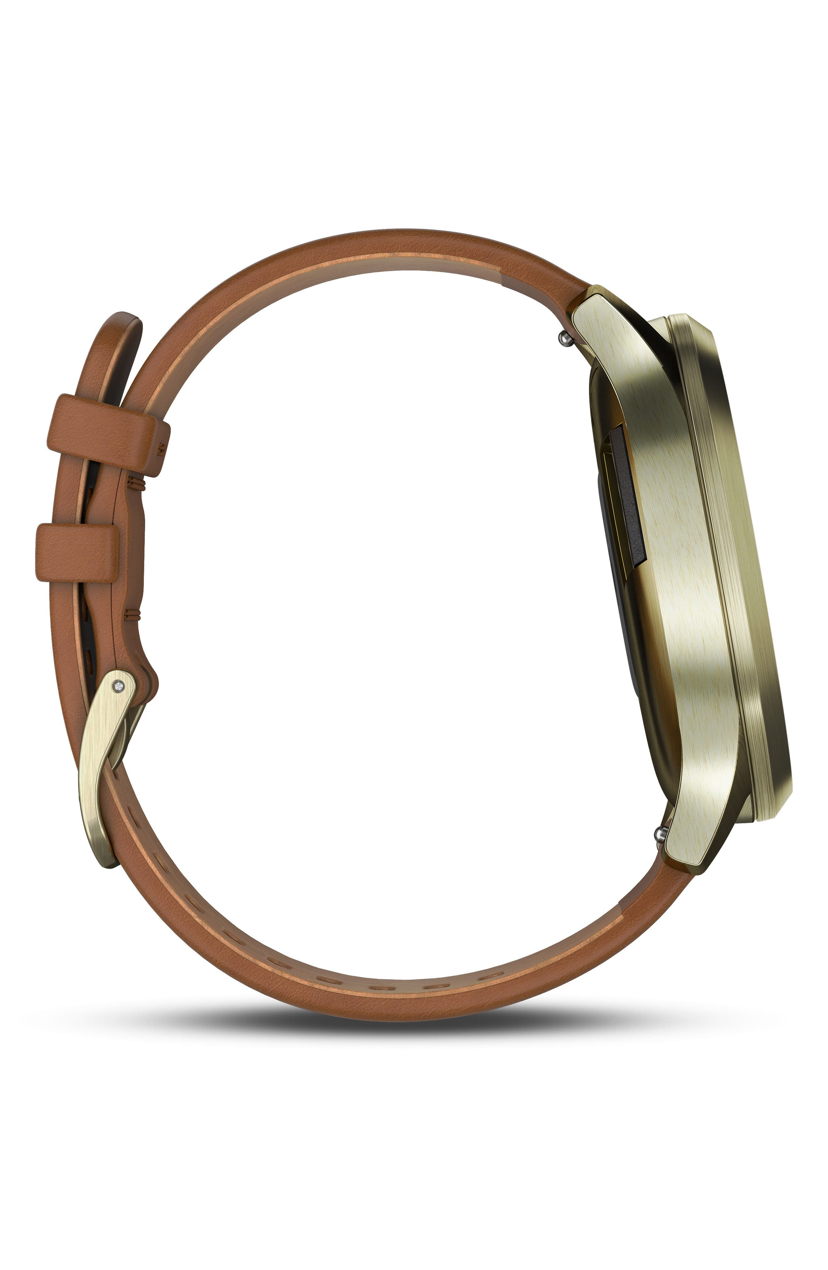 Vivomove HR Hybrid Smart Watch,                             Alternate thumbnail 8, color,                             Light Brown/ Gold/ Gold