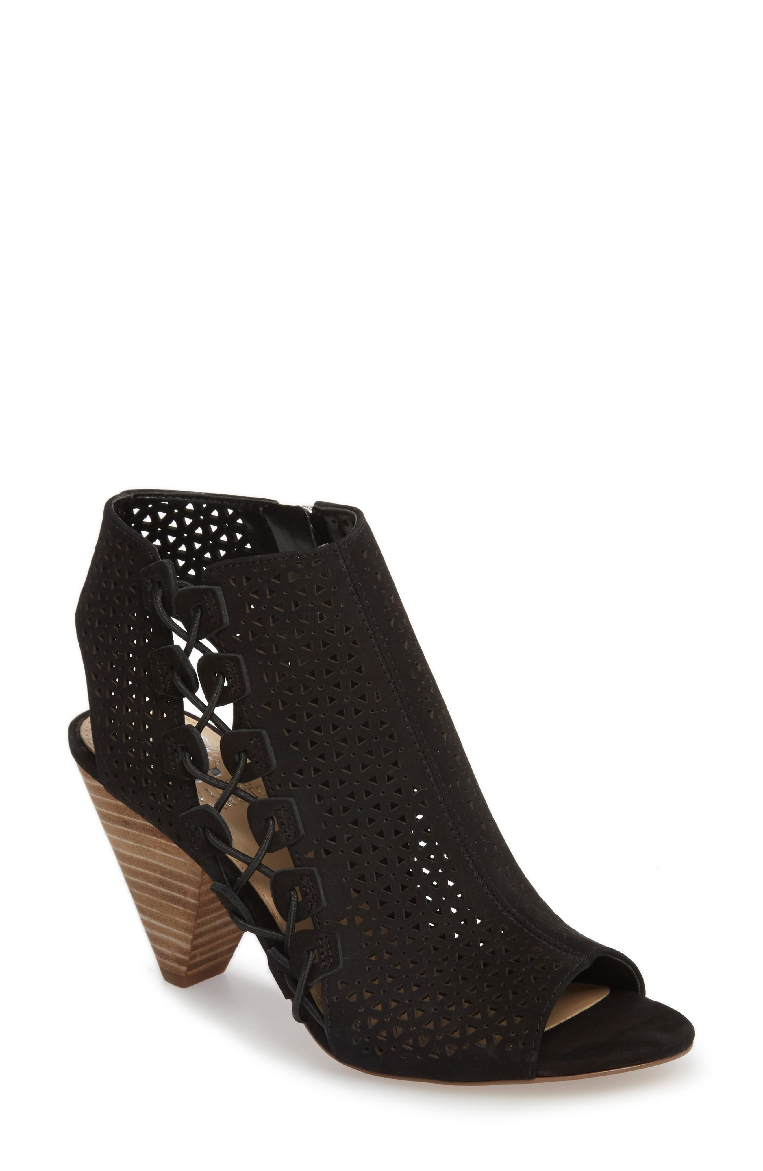 Elison Bootie,                             Main thumbnail 1, color,                             Black Leather