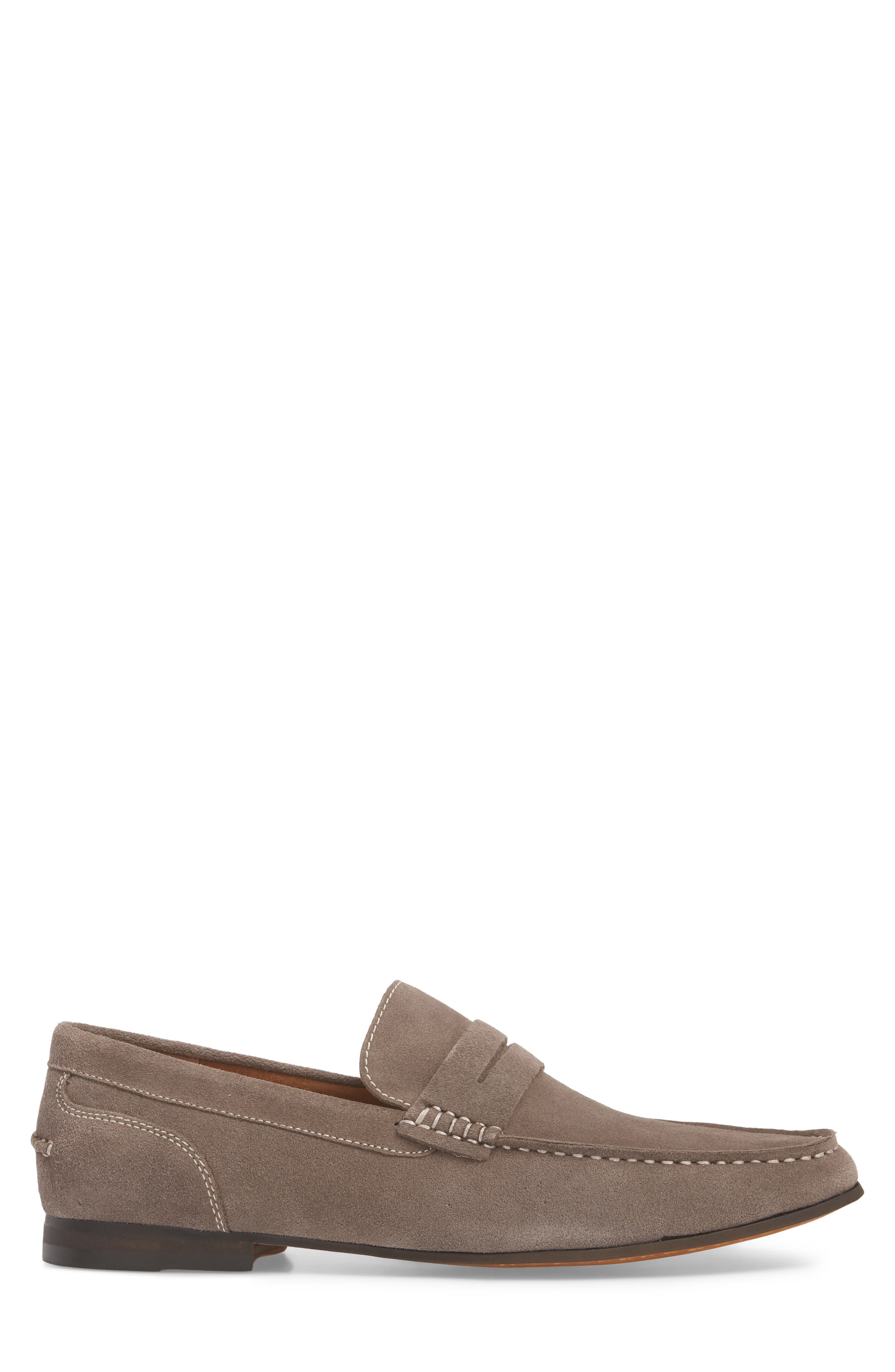 Crespo Penny Loafer,                             Alternate thumbnail 3, color,                             Grey