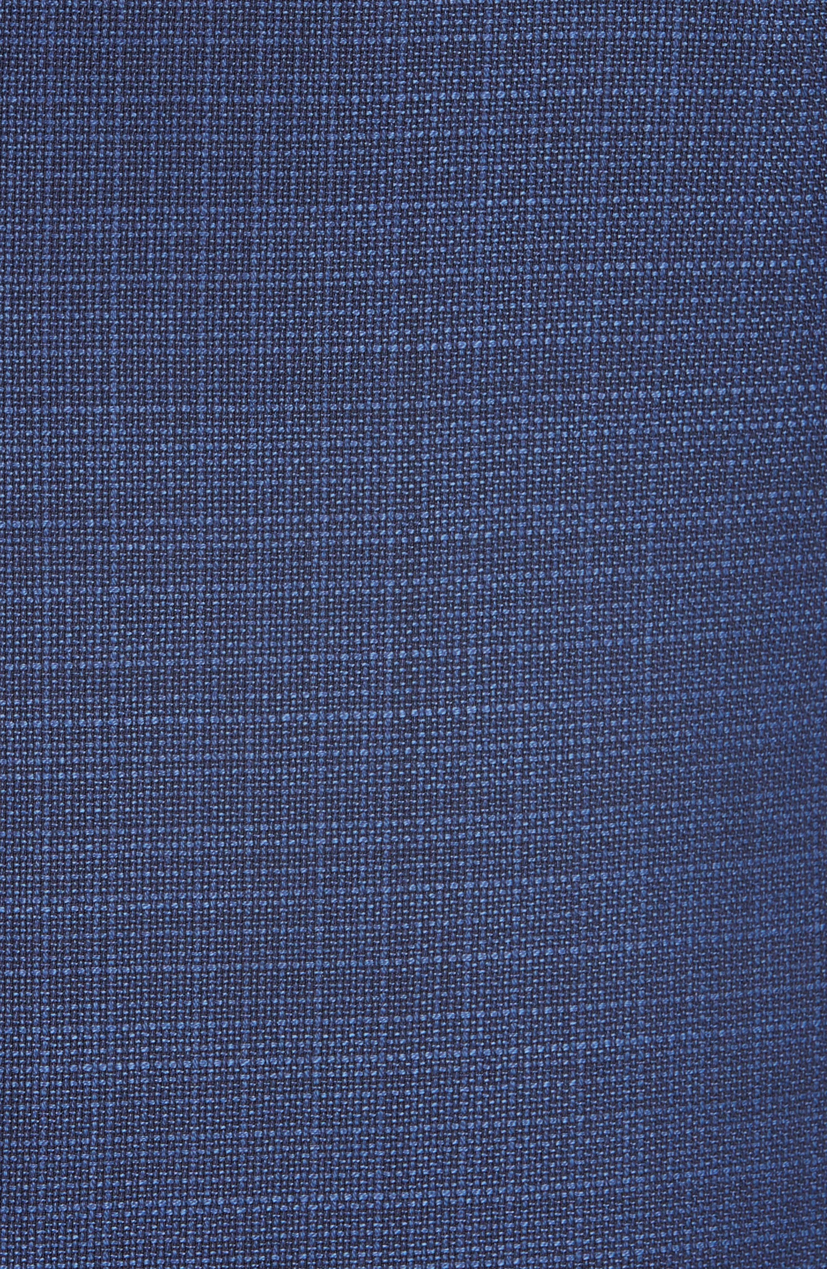G Line Trim Fit Wool Blazer,                             Alternate thumbnail 5, color,                             Blue