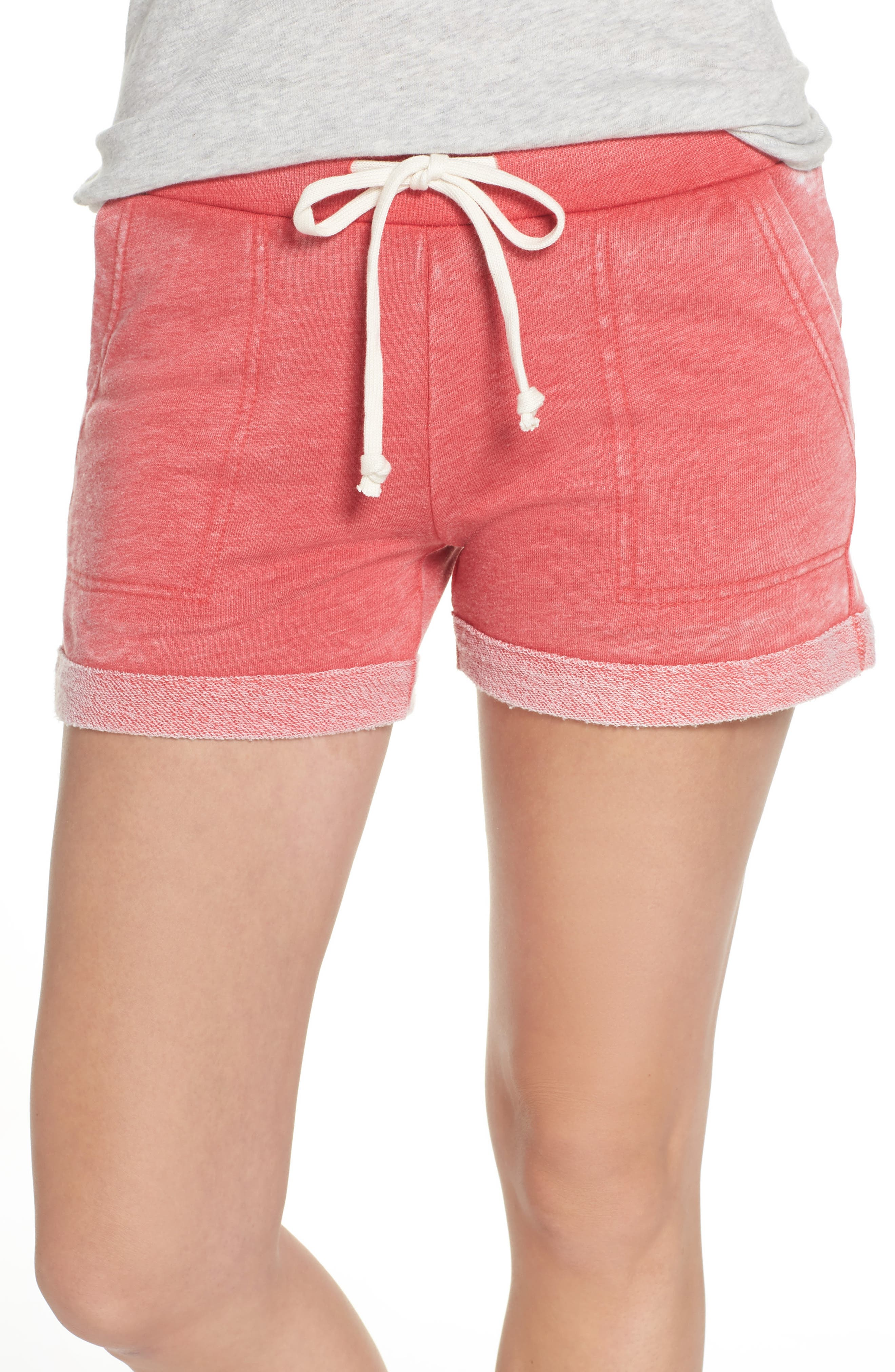 Lounge Shorts,                         Main,                         color, Red