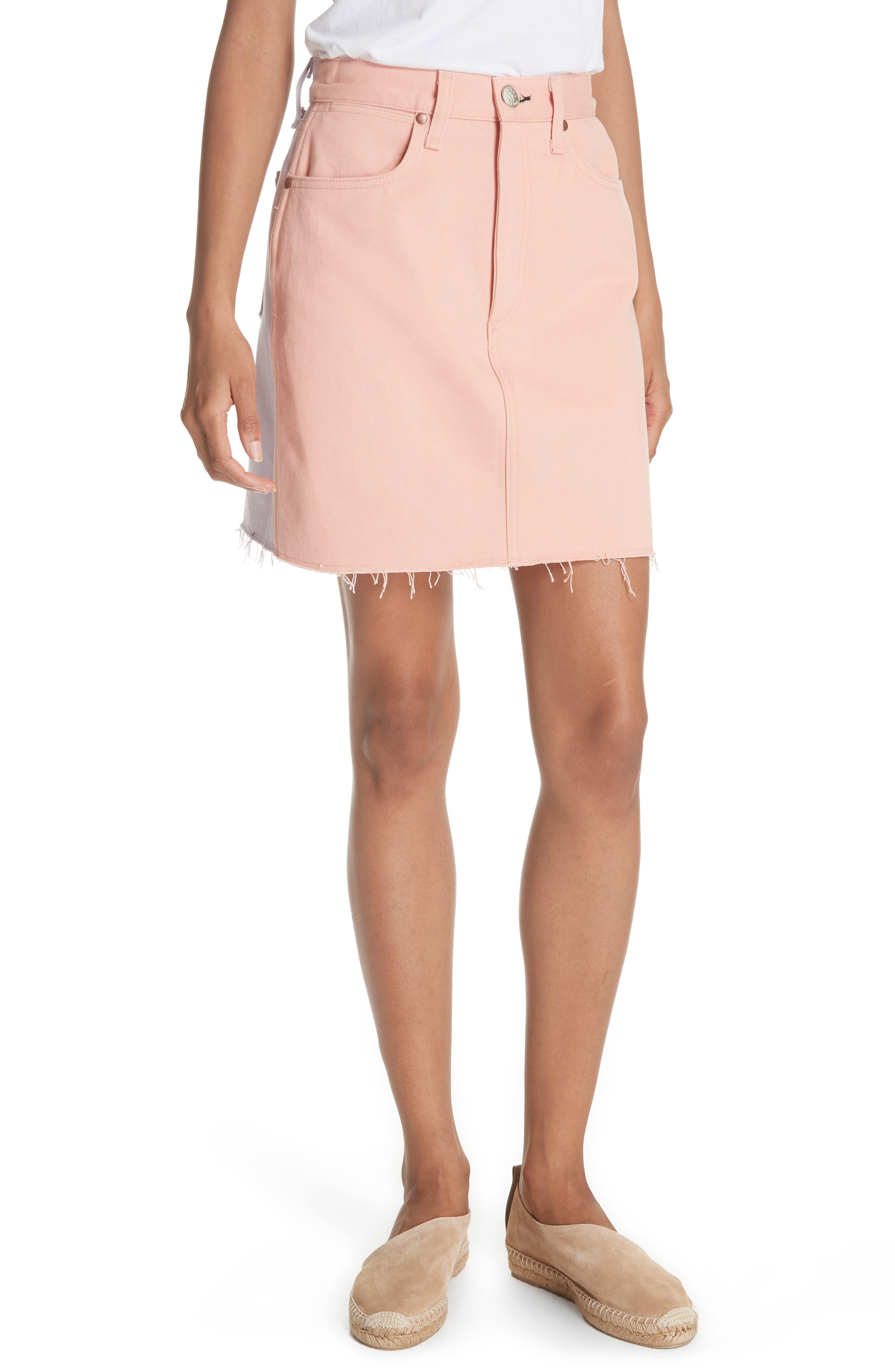 rag & bone/JEAN Moss Skirt (Peach/Lilac)
