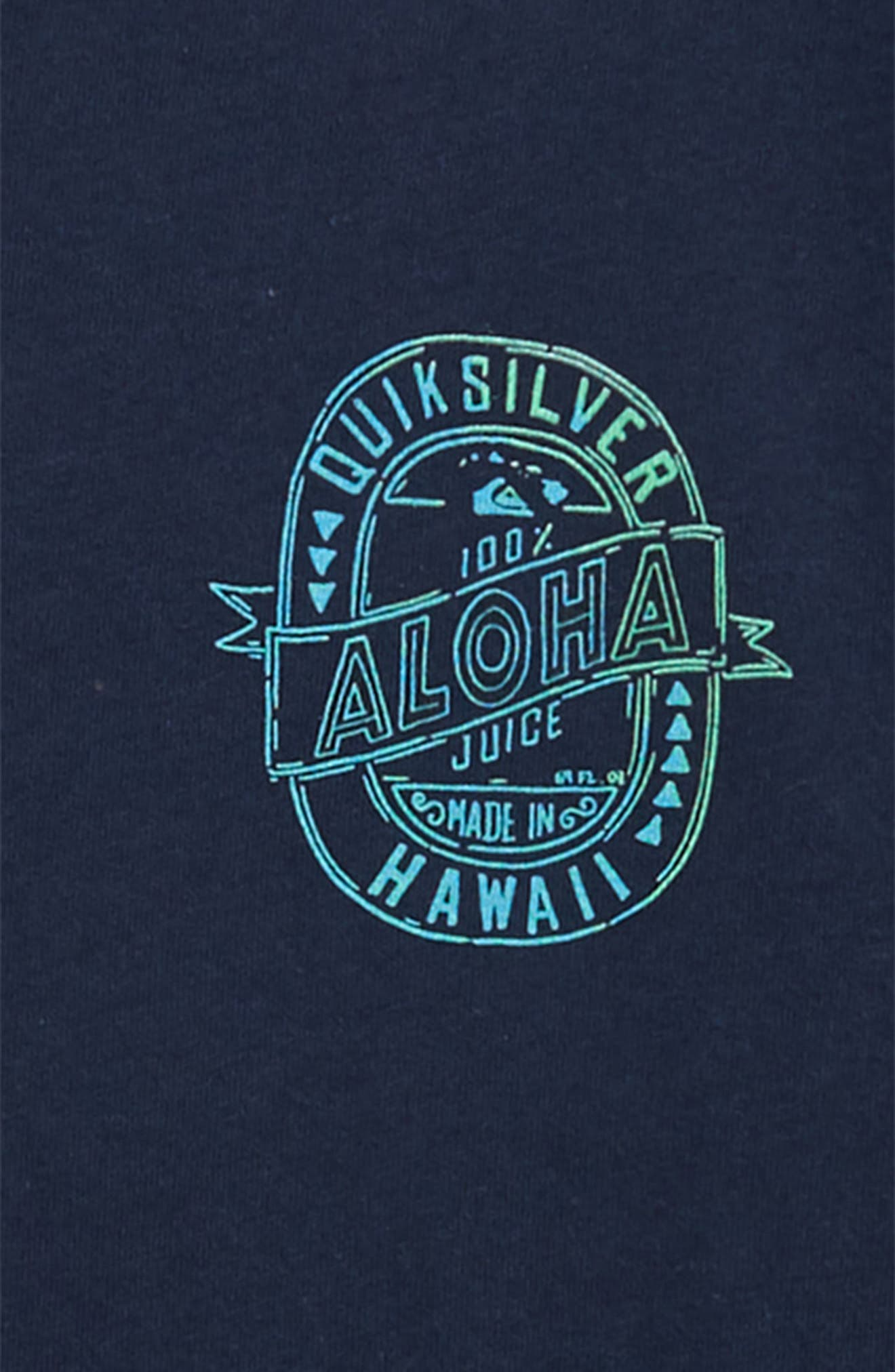 Hawaii Juice Graphic T-Shirt,                             Alternate thumbnail 3, color,                             Navy Blazer