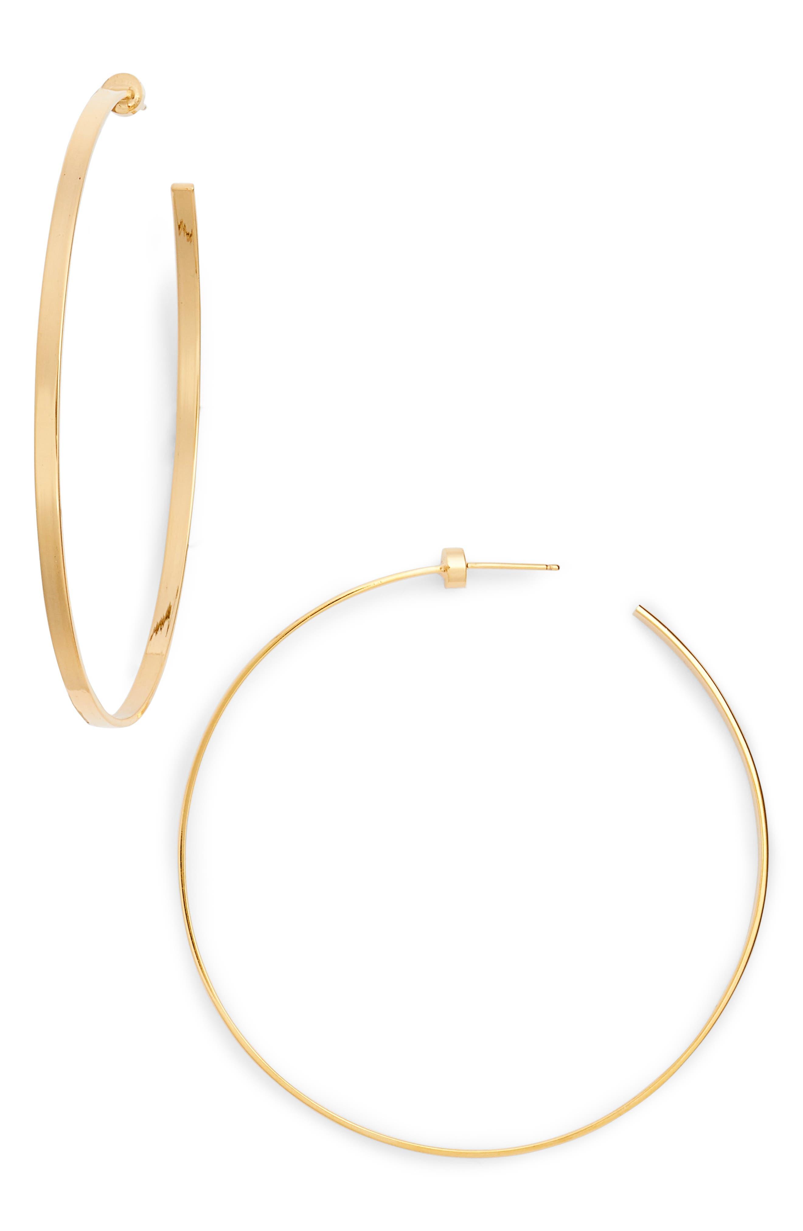 Hoop Earrings,                         Main,                         color, Yellow Vermeil