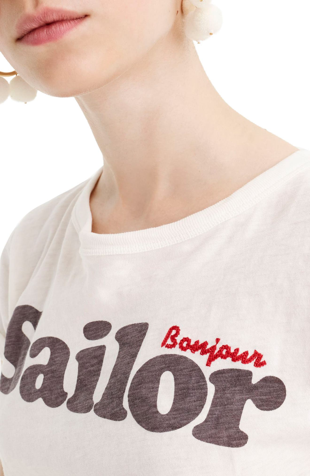 Sailor Tee,                             Alternate thumbnail 2, color,                             Ivory