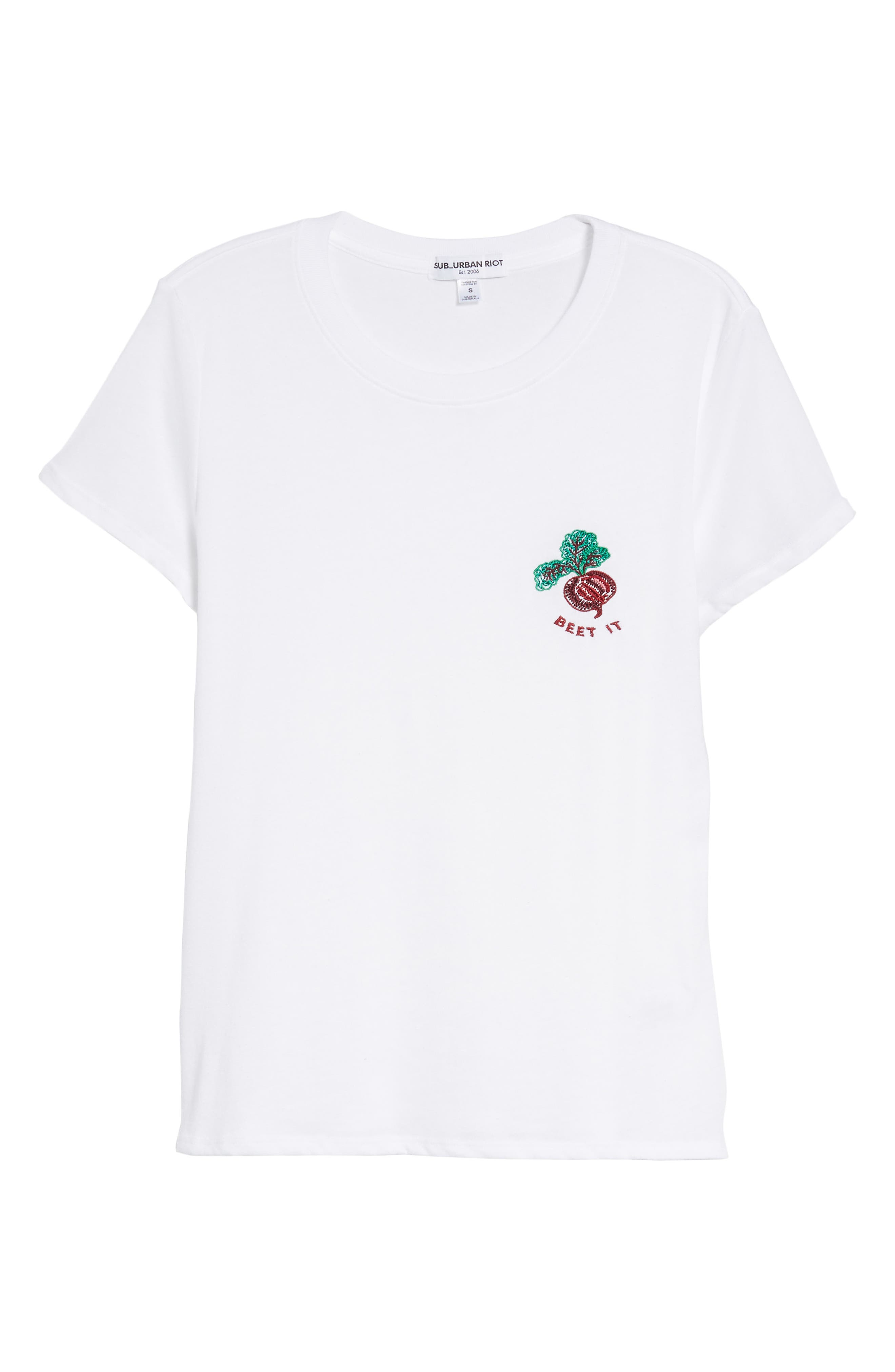 Beet It Slouched Tee,                             Alternate thumbnail 6, color,                             White