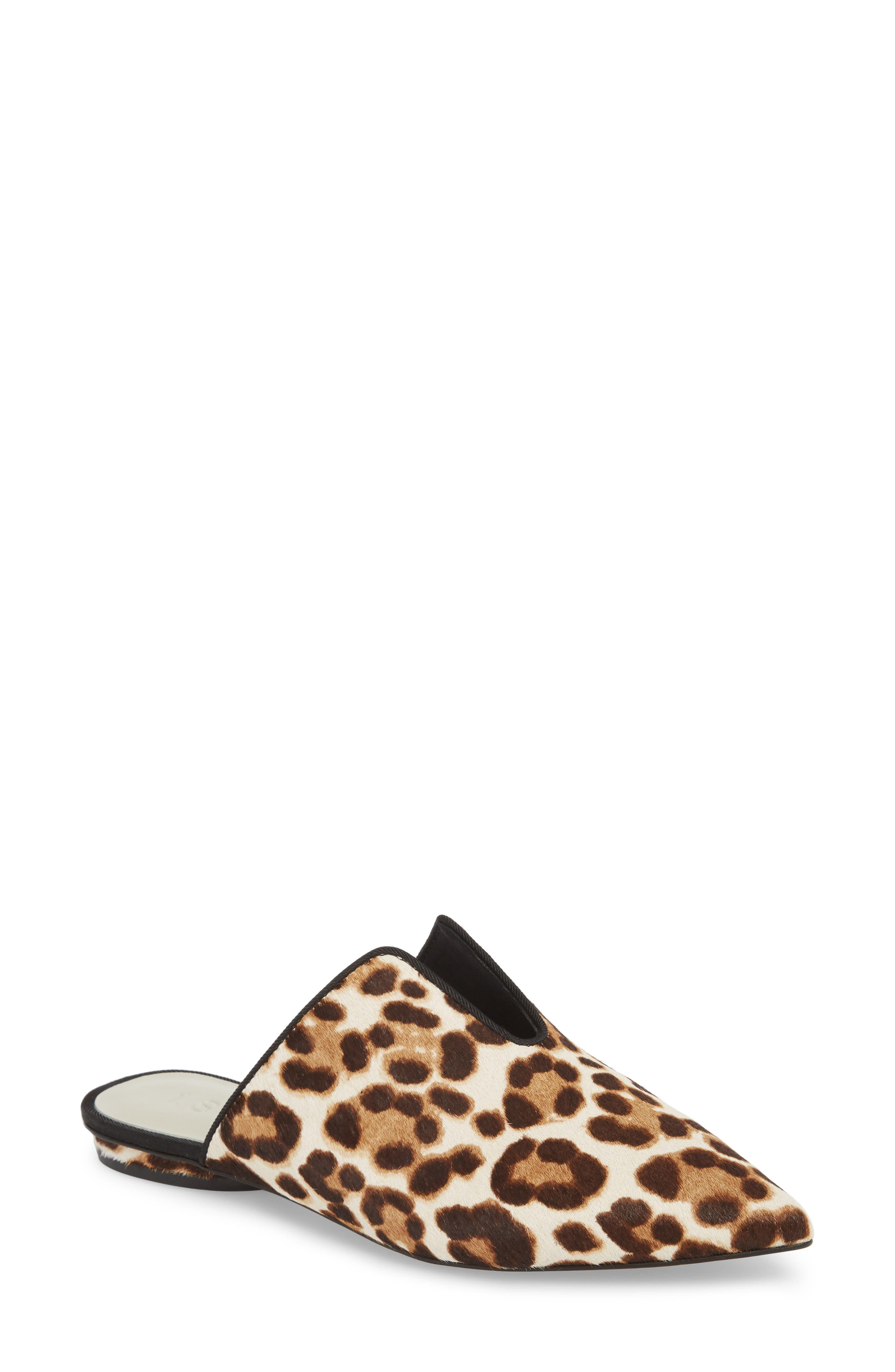 Genia Genuine Calf Hair Mule,                         Main,                         color, Cheetah/ Black Calf Hair