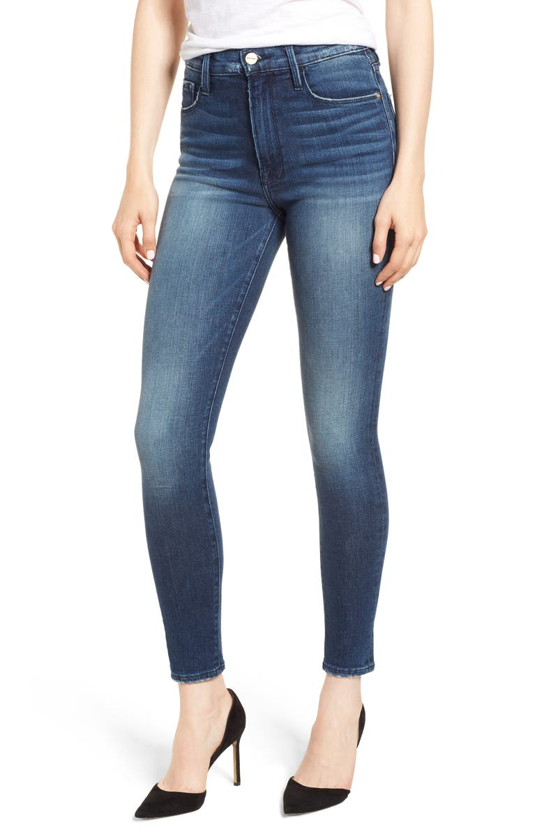 Ali High Waist Crop Skinny Jeans