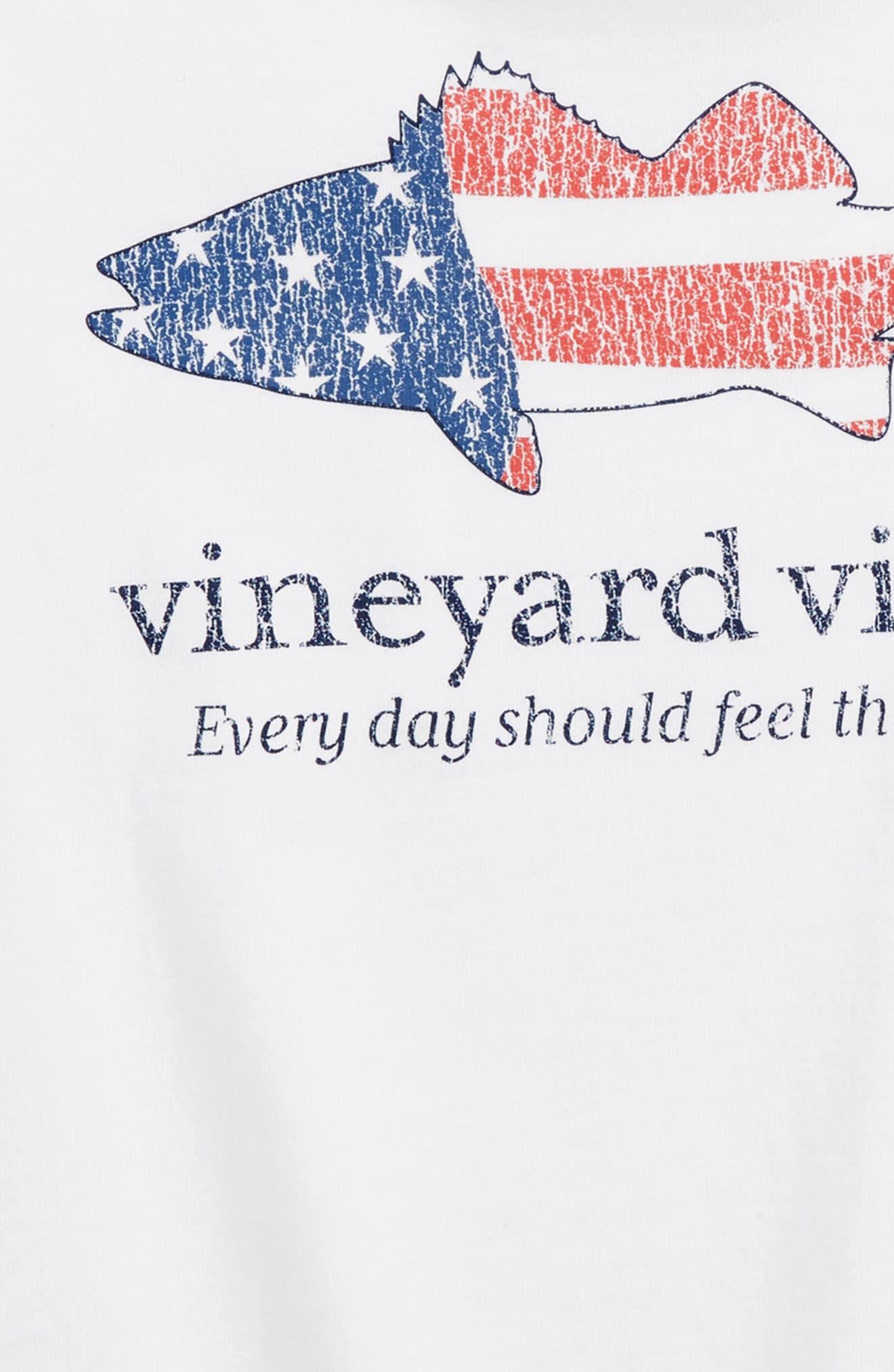 Short Sleeve Sea Bass Flag Pocket T-Shirt,                             Alternate thumbnail 3, color,                             White Cap