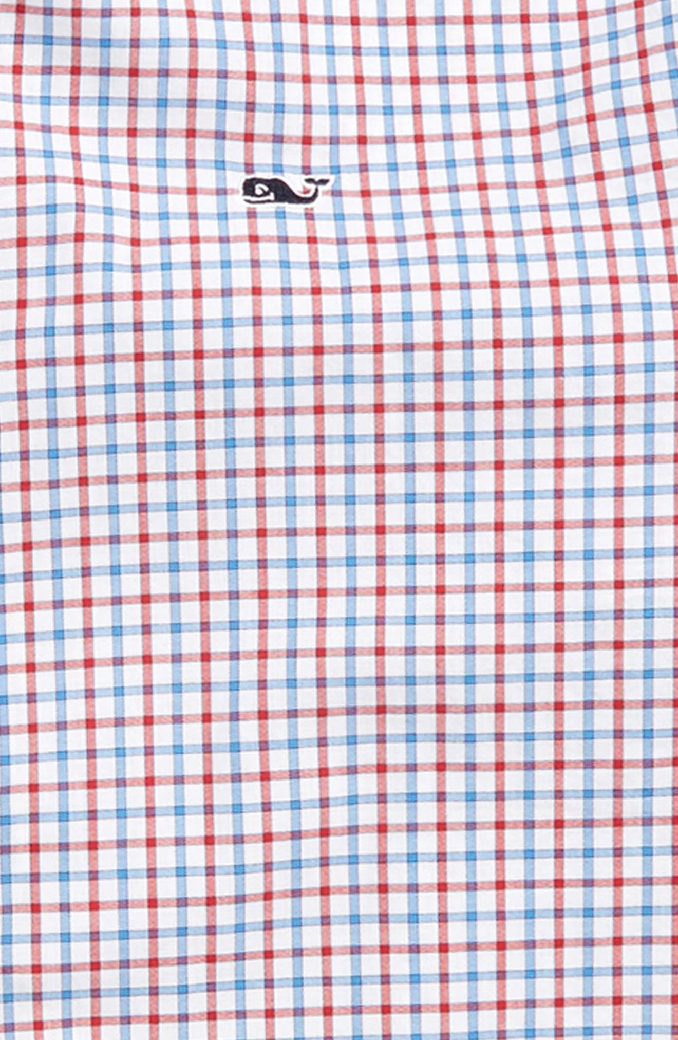 Clark Cove Check Whale Shirt,                             Alternate thumbnail 2, color,                             Lighthouse Red