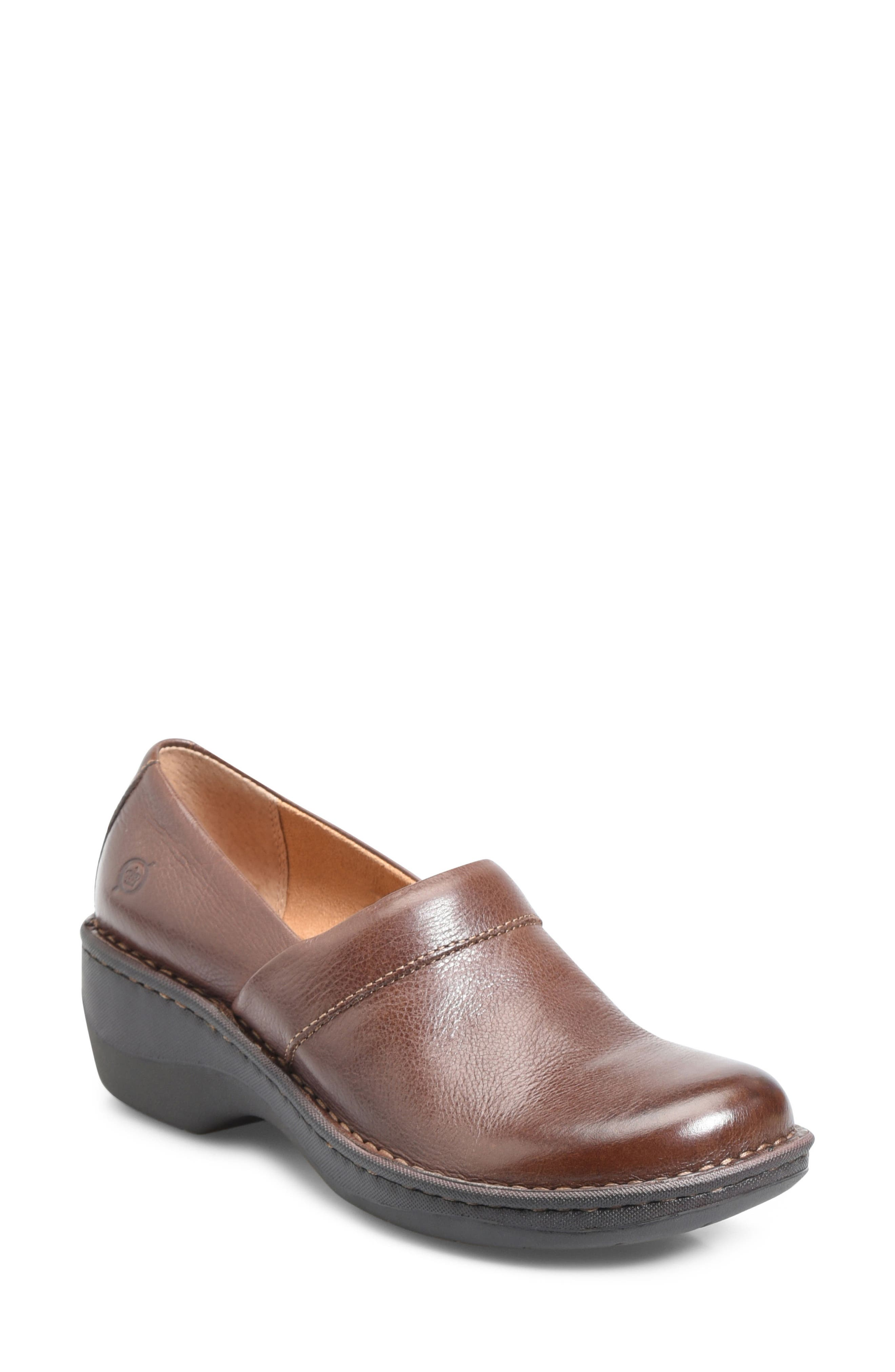 Toby Duo Clog,                         Main,                         color, Chocolate Leather