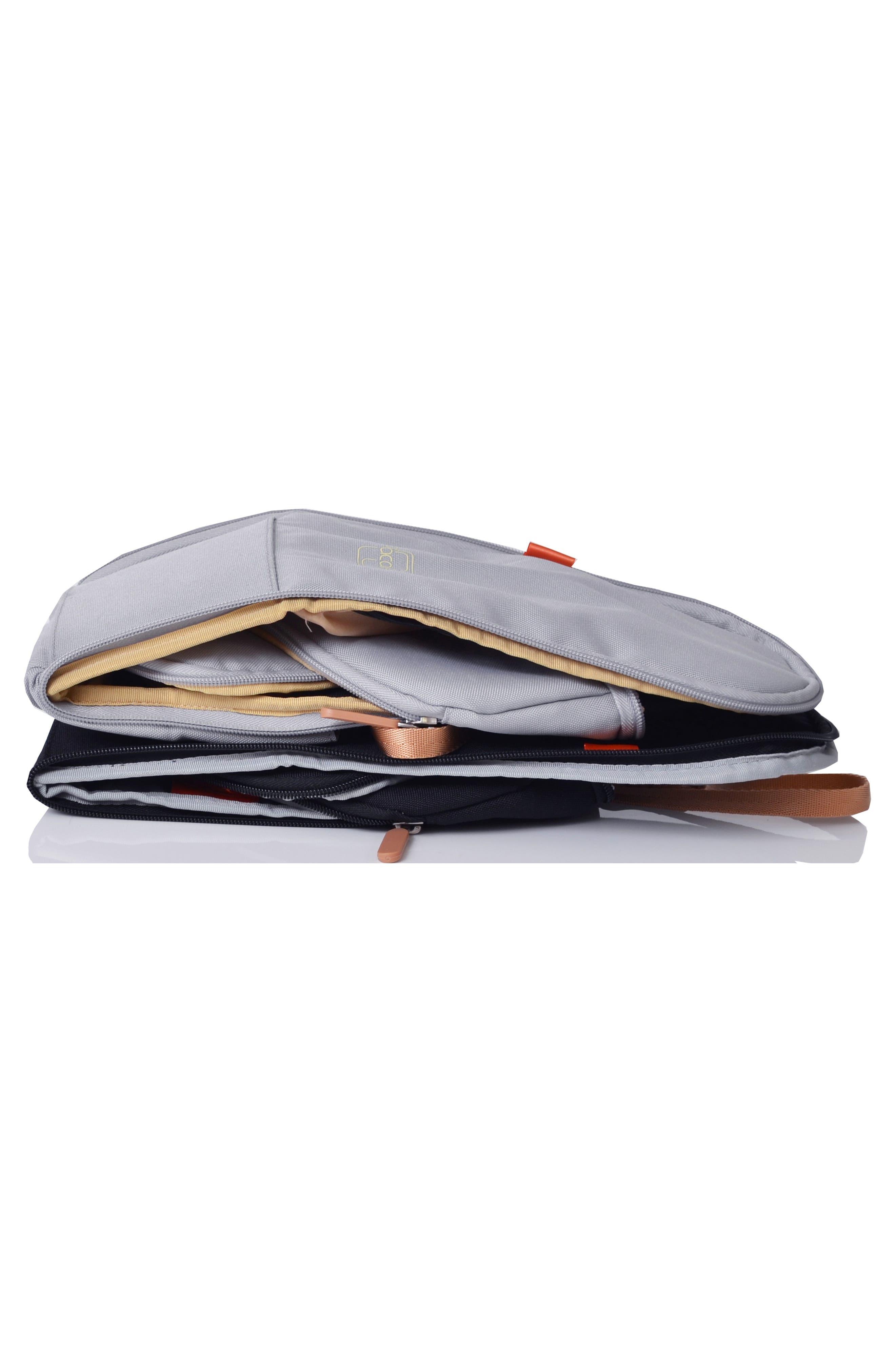 'Richmond' Diaper Bag,                             Alternate thumbnail 5, color,                             Dove Herringbone