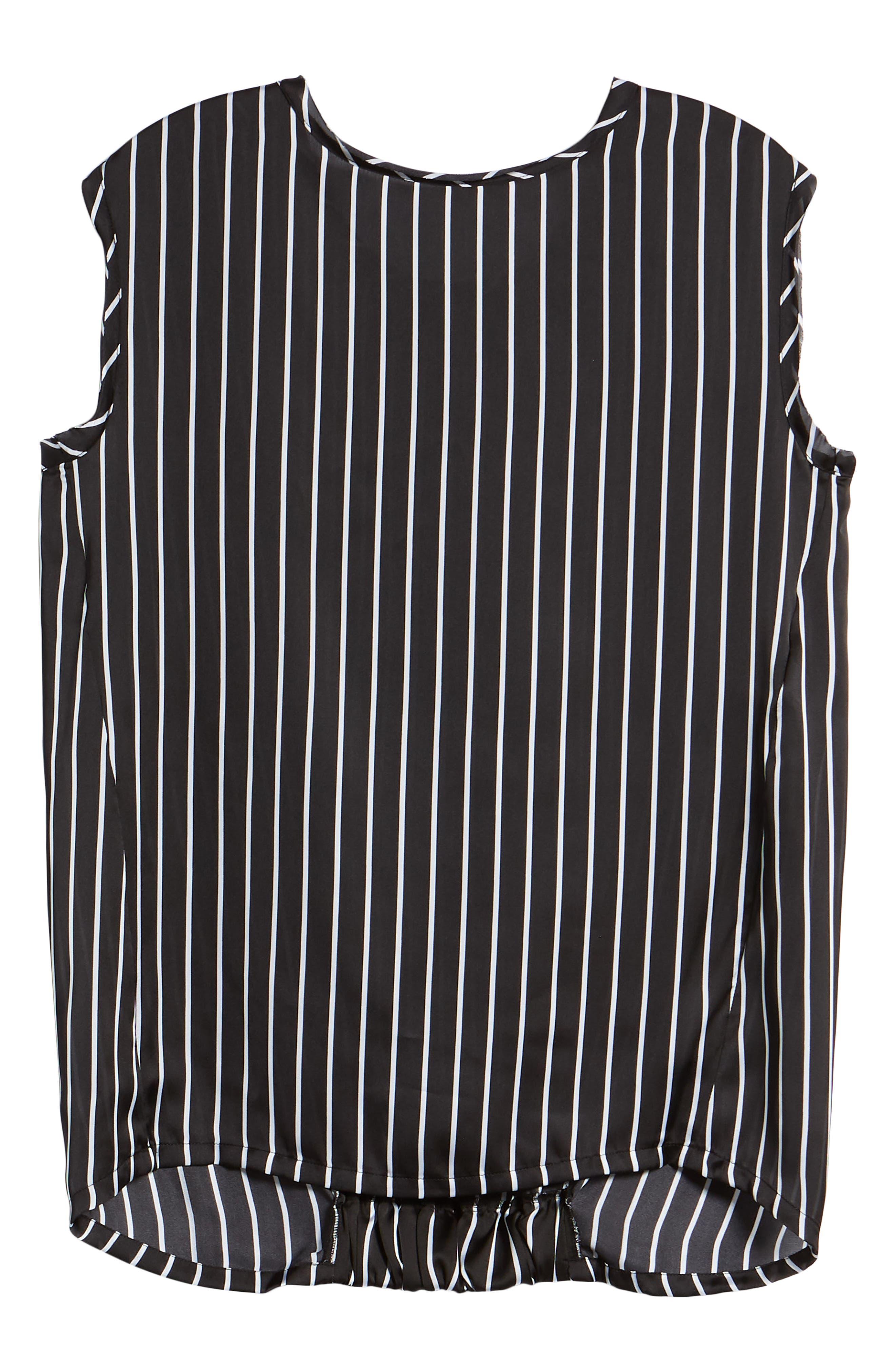 Circle Blouse,                             Alternate thumbnail 7, color,                             Street Stripe Black