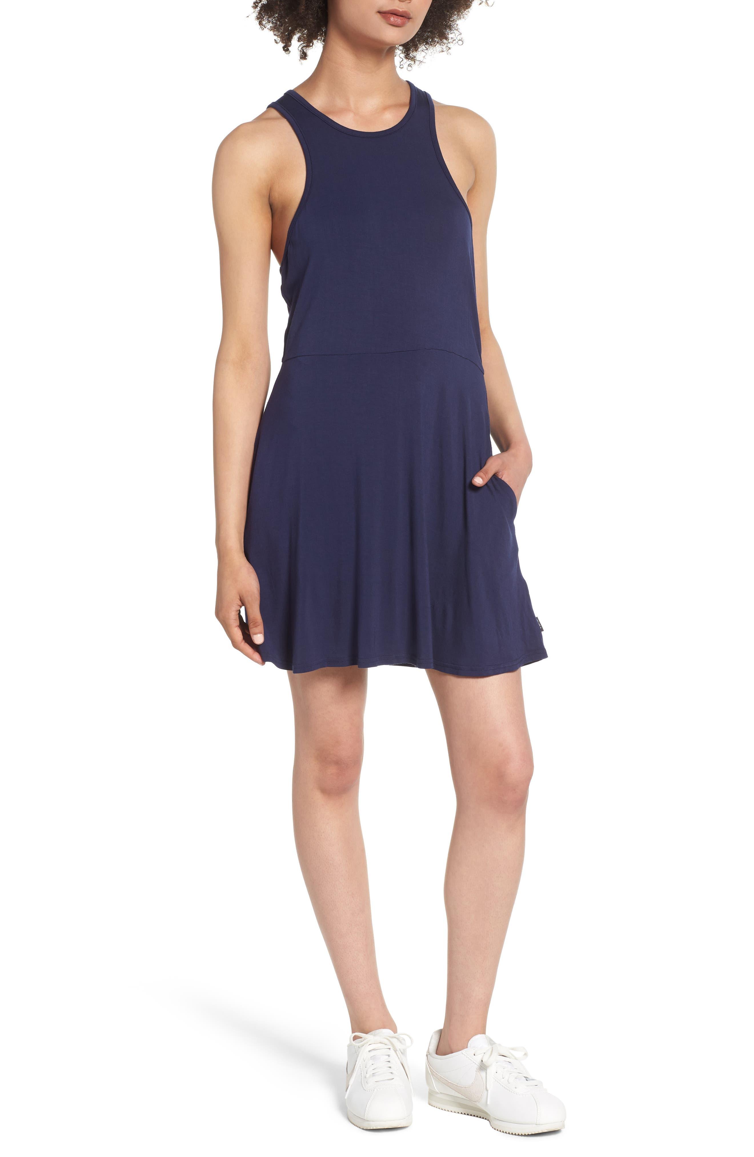 Iris Racerback Dress,                             Main thumbnail 1, color,                             Shady Blue