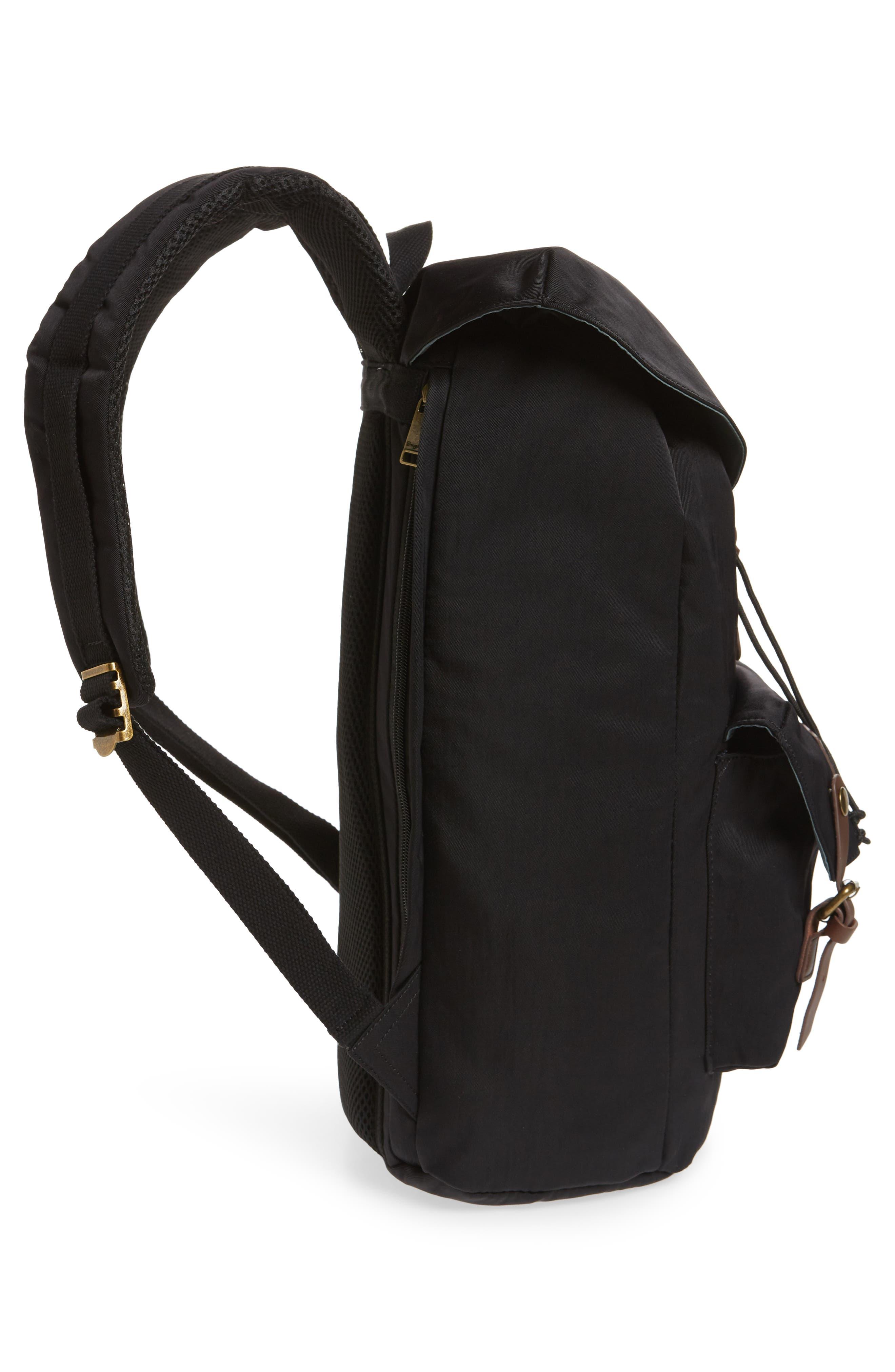 Heritage Water Repellent Backpack,                             Alternate thumbnail 5, color,                             Black