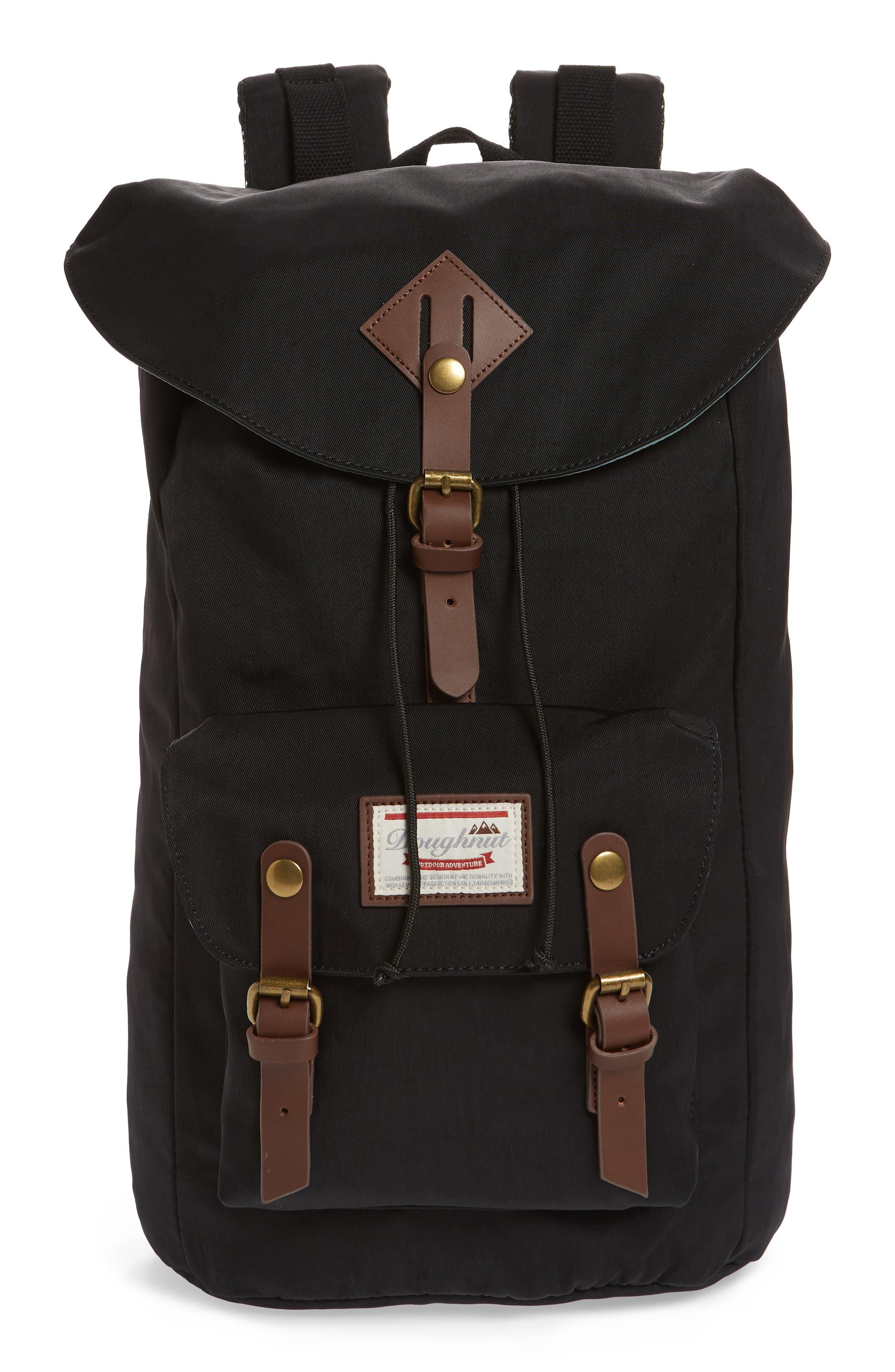Heritage Water Repellent Backpack,                         Main,                         color, Black