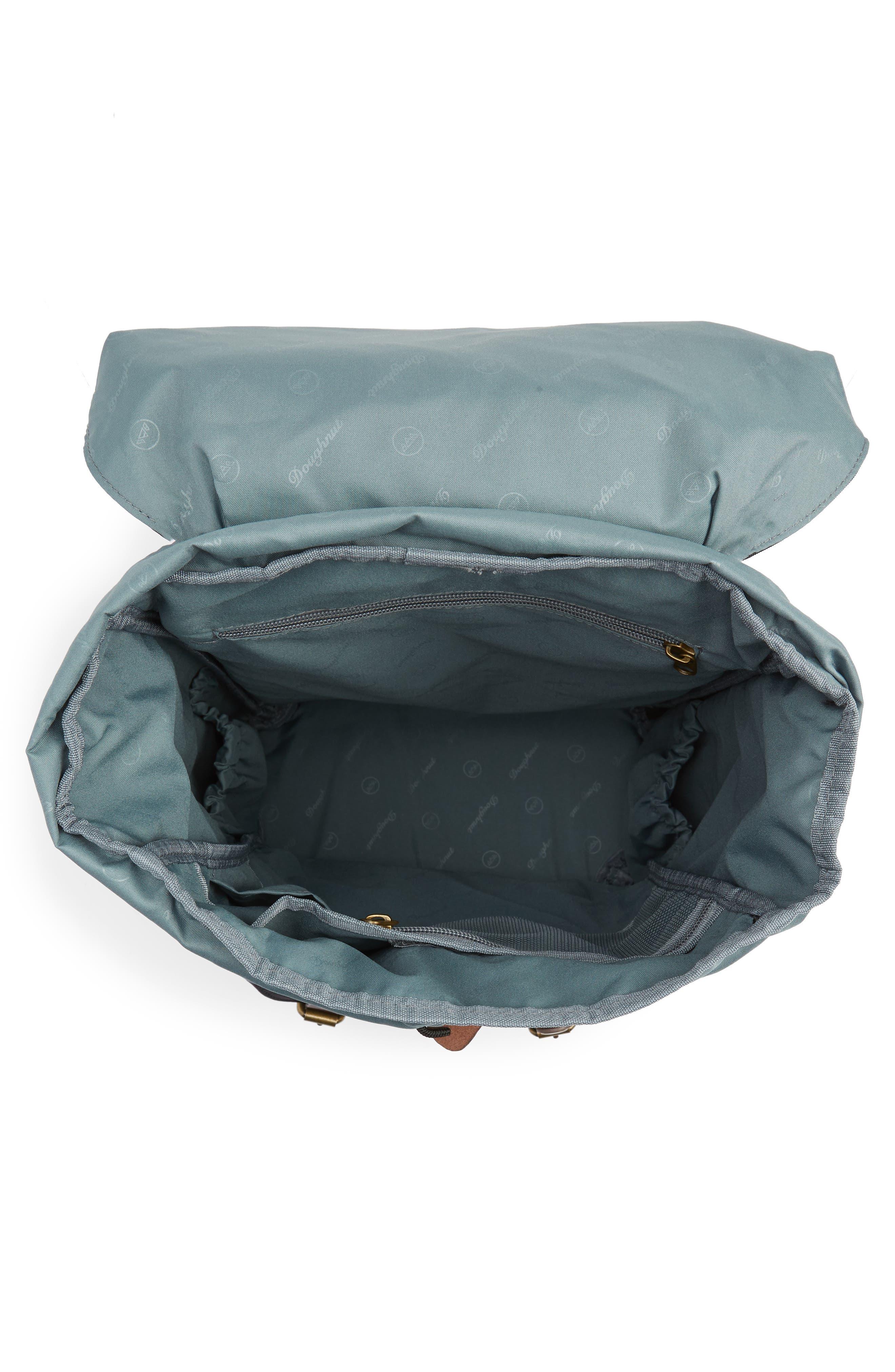 Heritage Water Repellent Backpack,                             Alternate thumbnail 4, color,                             Black