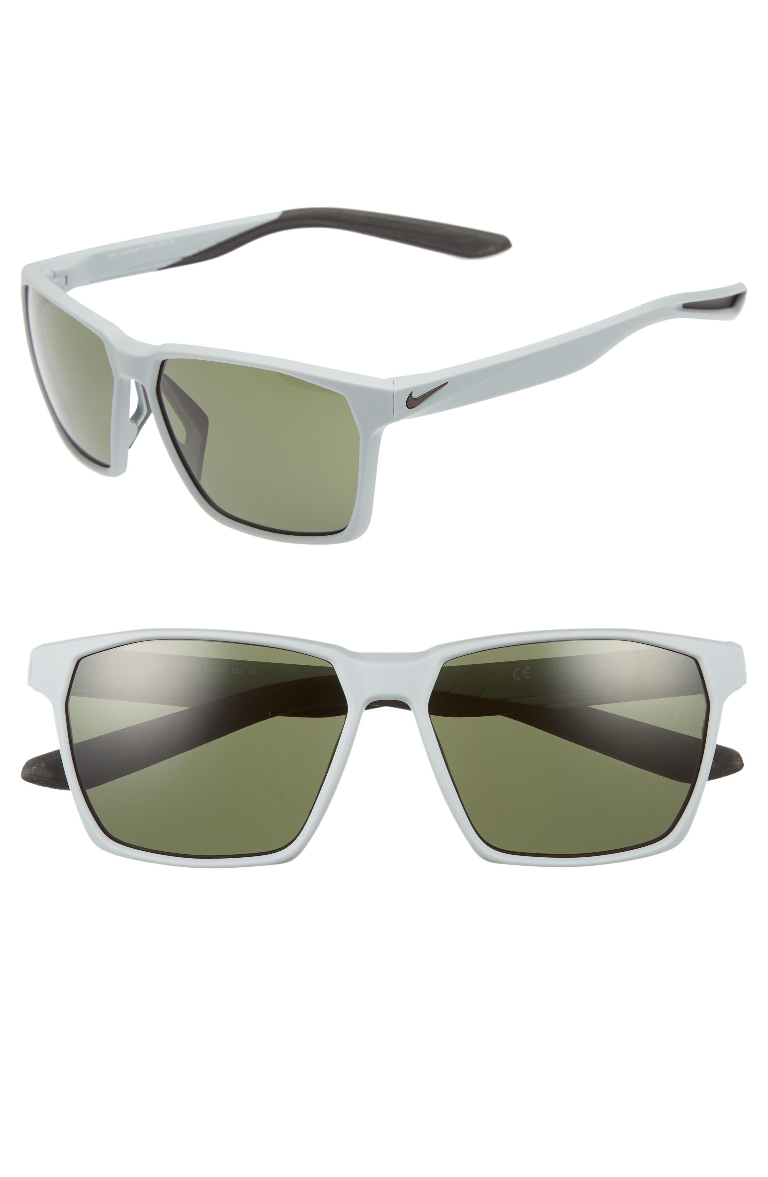 Maverick 59mm Sunglasses,                         Main,                         color, Matte Wolf Grey/ Green