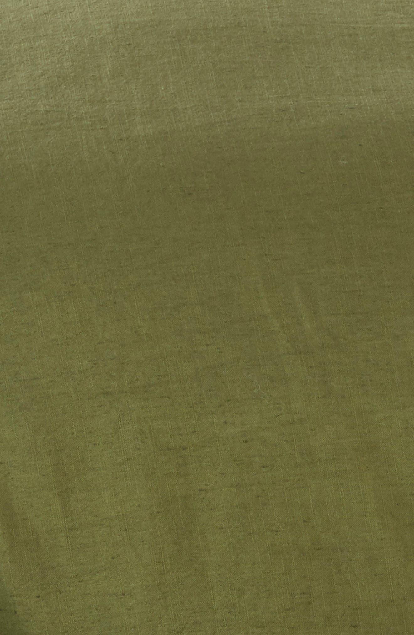 Relaxed Cotton & Linen Duvet Cover,                             Alternate thumbnail 3, color,                             Olive Spice