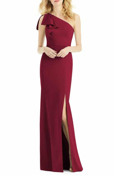 f1ae37014122 After Six Bow One-Shoulder Gown