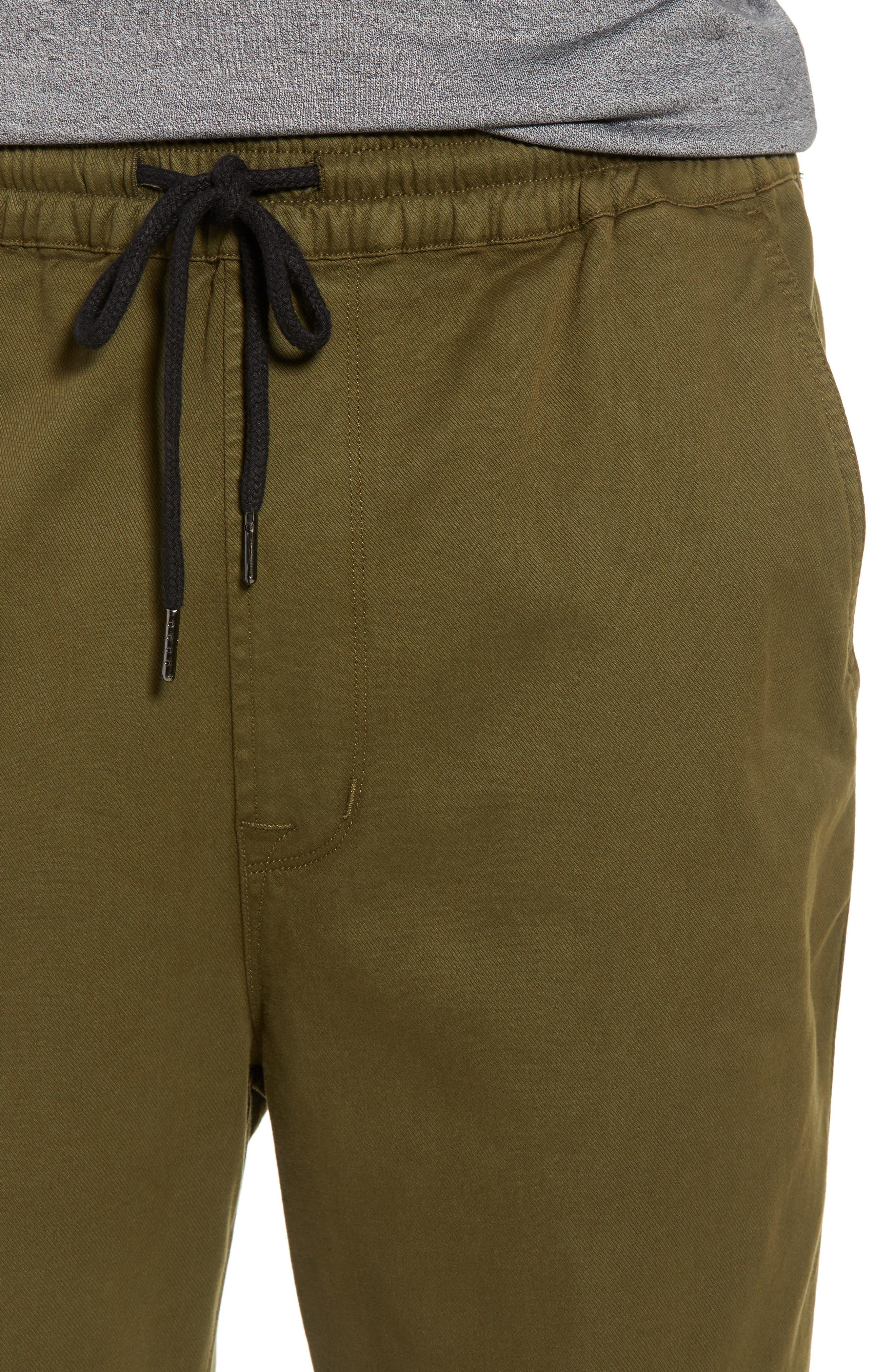 Hudson Leo Drop Crotch Pants,                             Alternate thumbnail 6, color,                             Olive