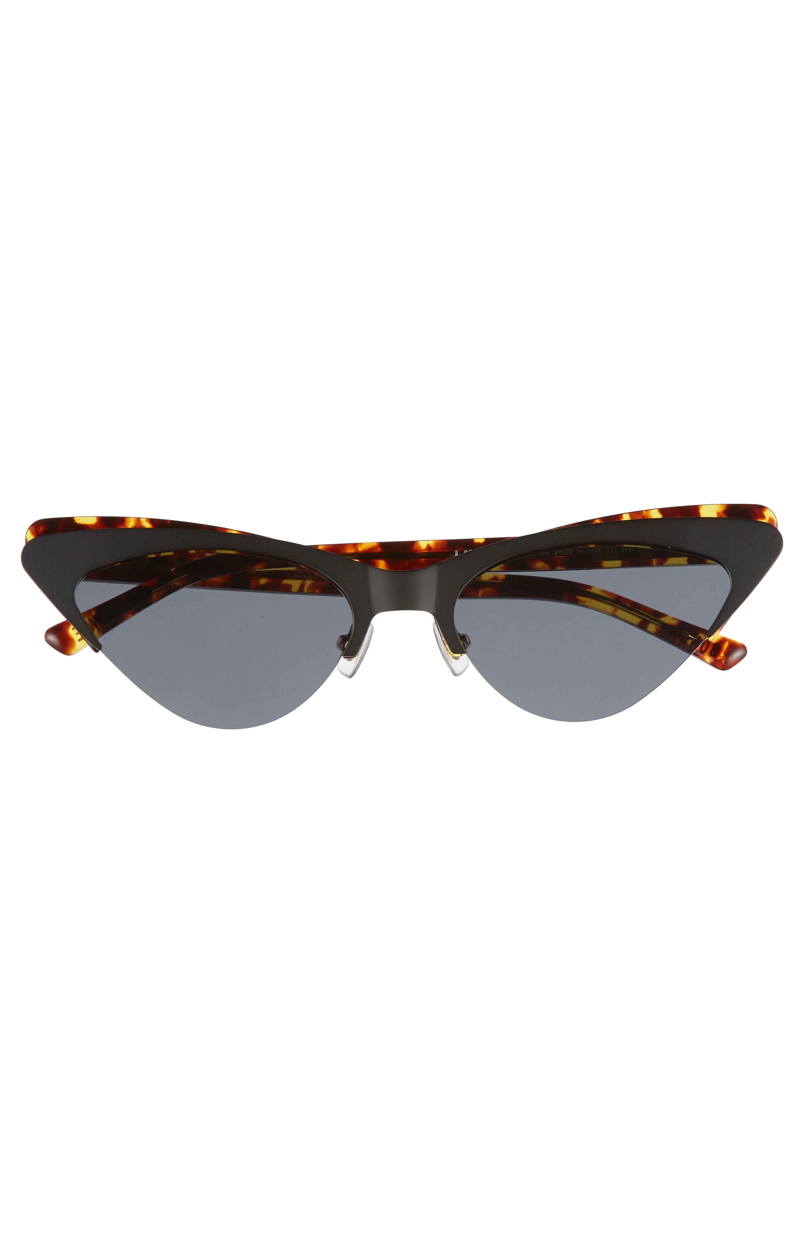 Layer Cake 55mm Cat Eye Sunglasses,                             Alternate thumbnail 3, color,                             Tortoise/ Black