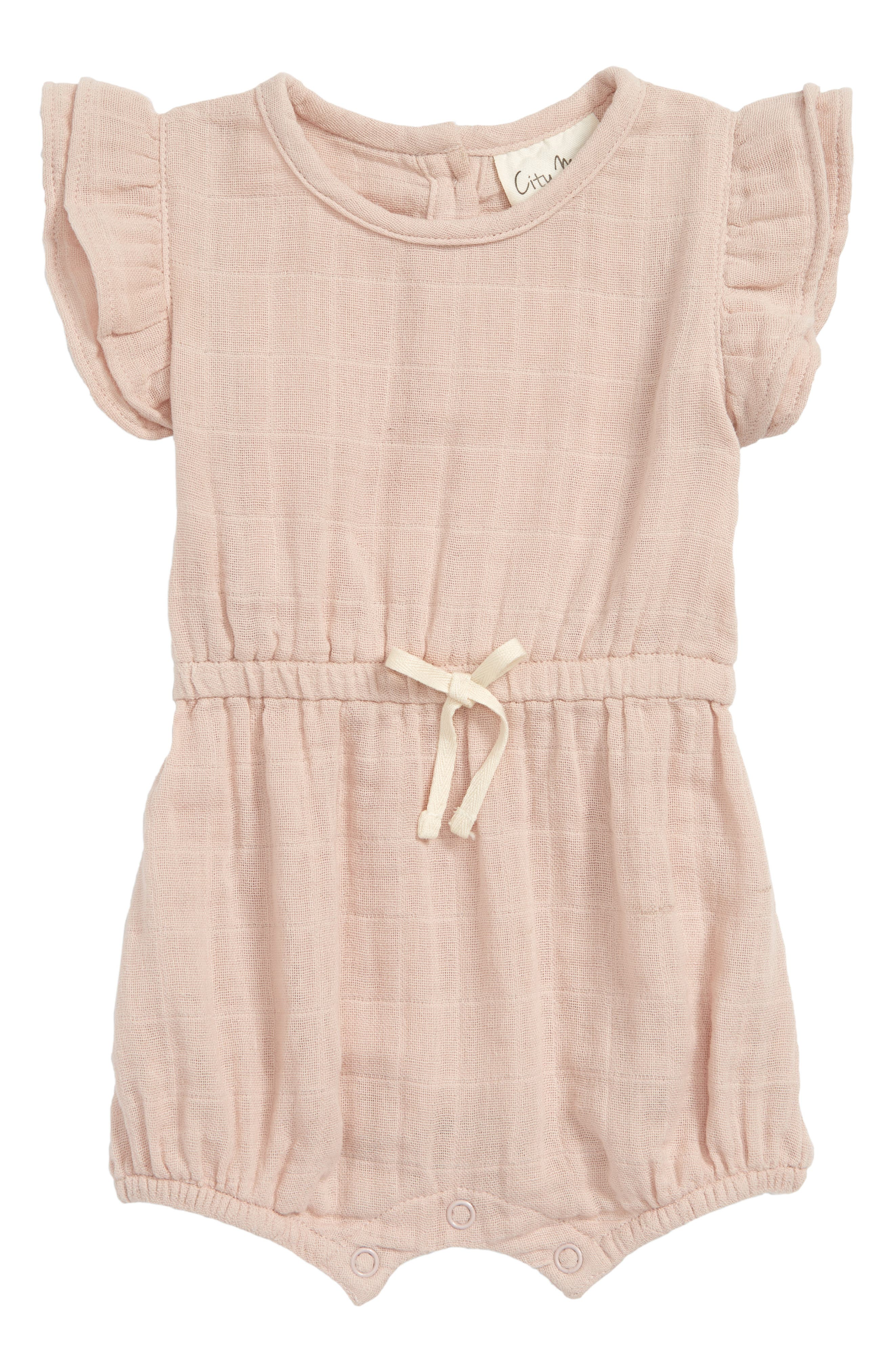 Organic Cotton Muslin Romper by City Mouse