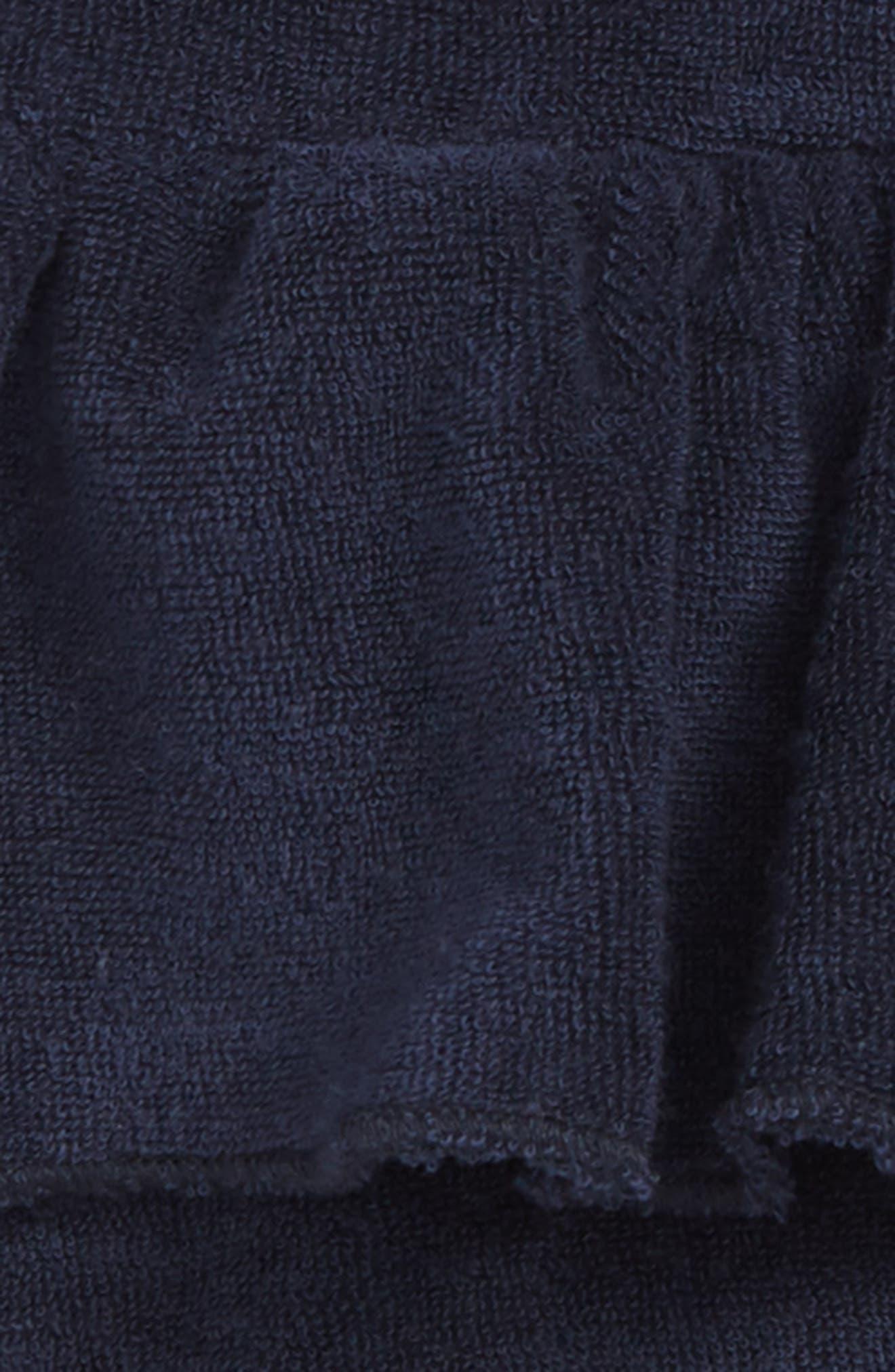 Frill Organic Cotton Beach Shorts,                             Alternate thumbnail 2, color,                             Blue