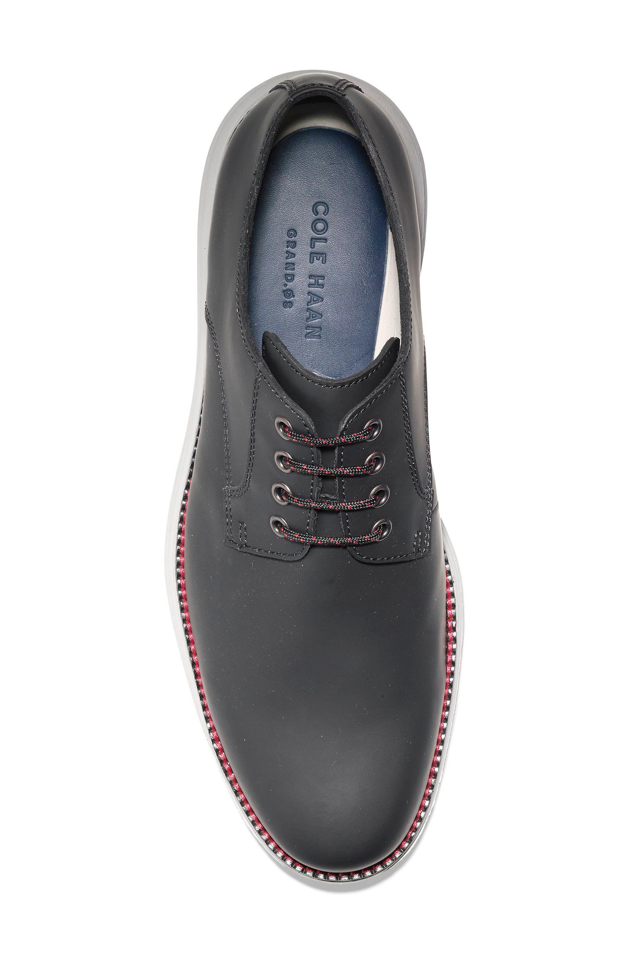 Original Grand Plain Toe Derby,                             Alternate thumbnail 3, color,                             Black Matte Leather