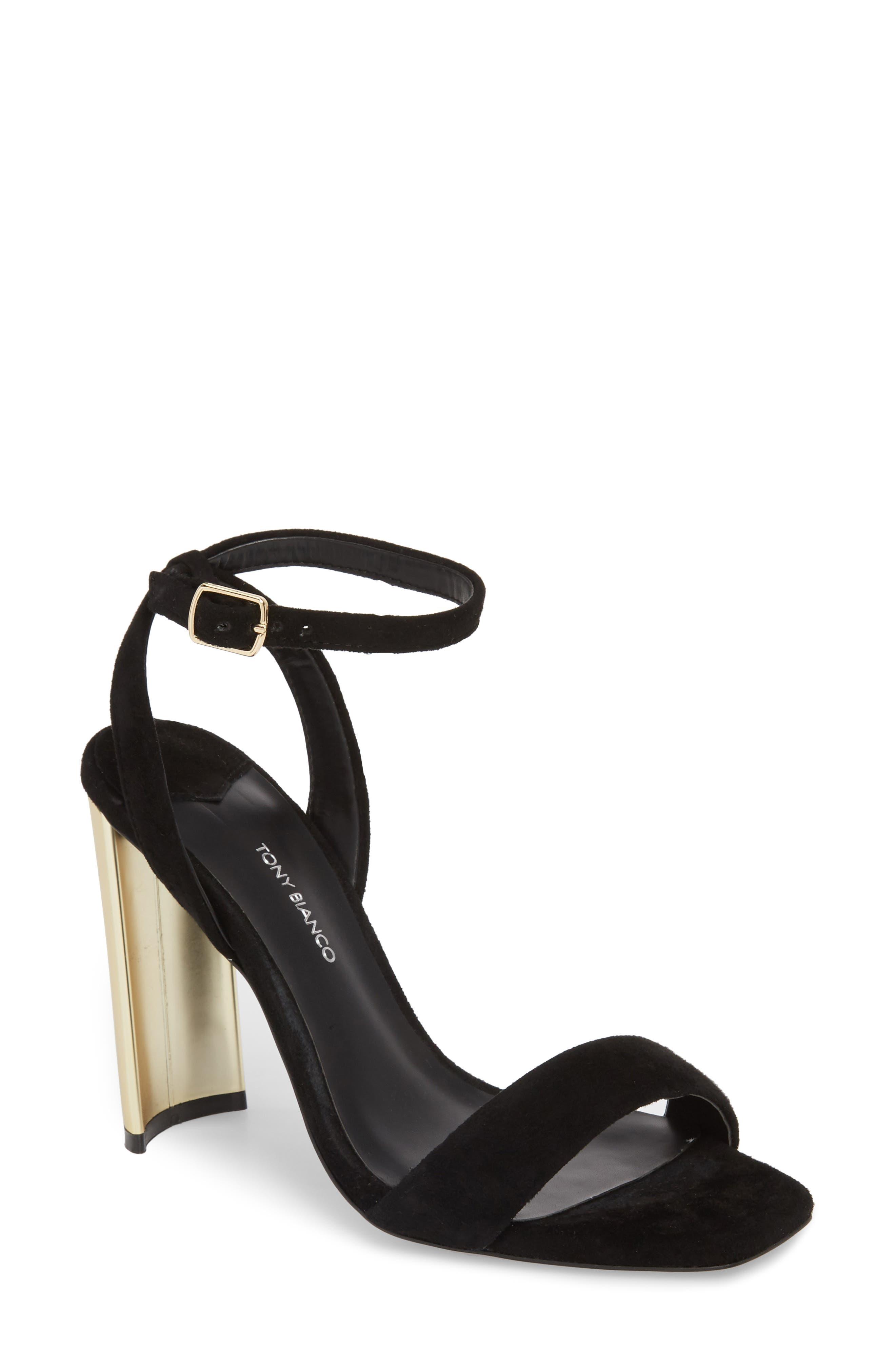 Star Sandal,                         Main,                         color, Black Suede