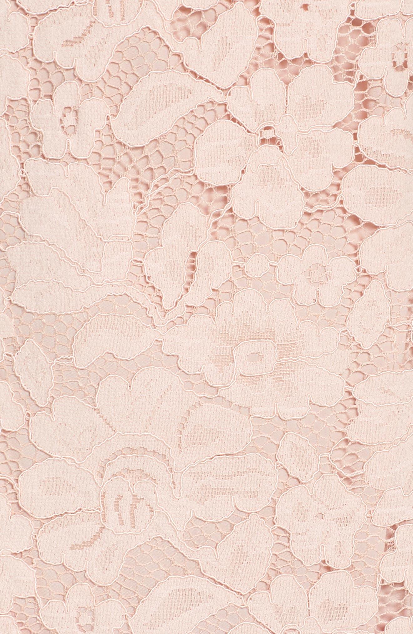 Sleeveless Lace Sheath Dress,                             Alternate thumbnail 6, color,                             Blush