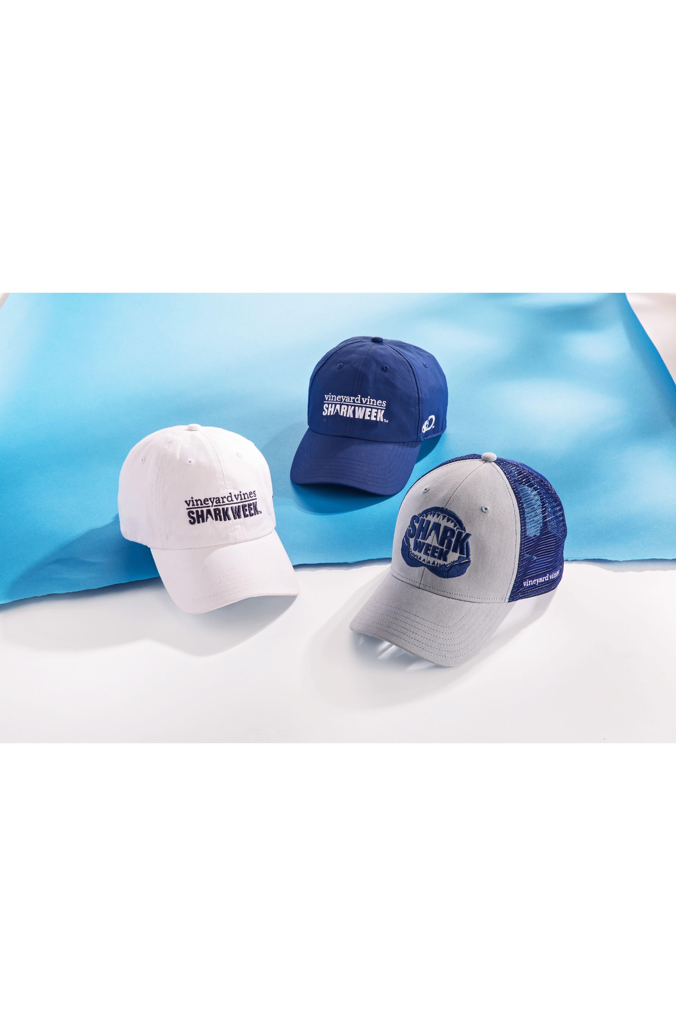 x Shark Week<sup>™</sup> Logo Baseball Cap,                             Alternate thumbnail 4, color,                             White Cap