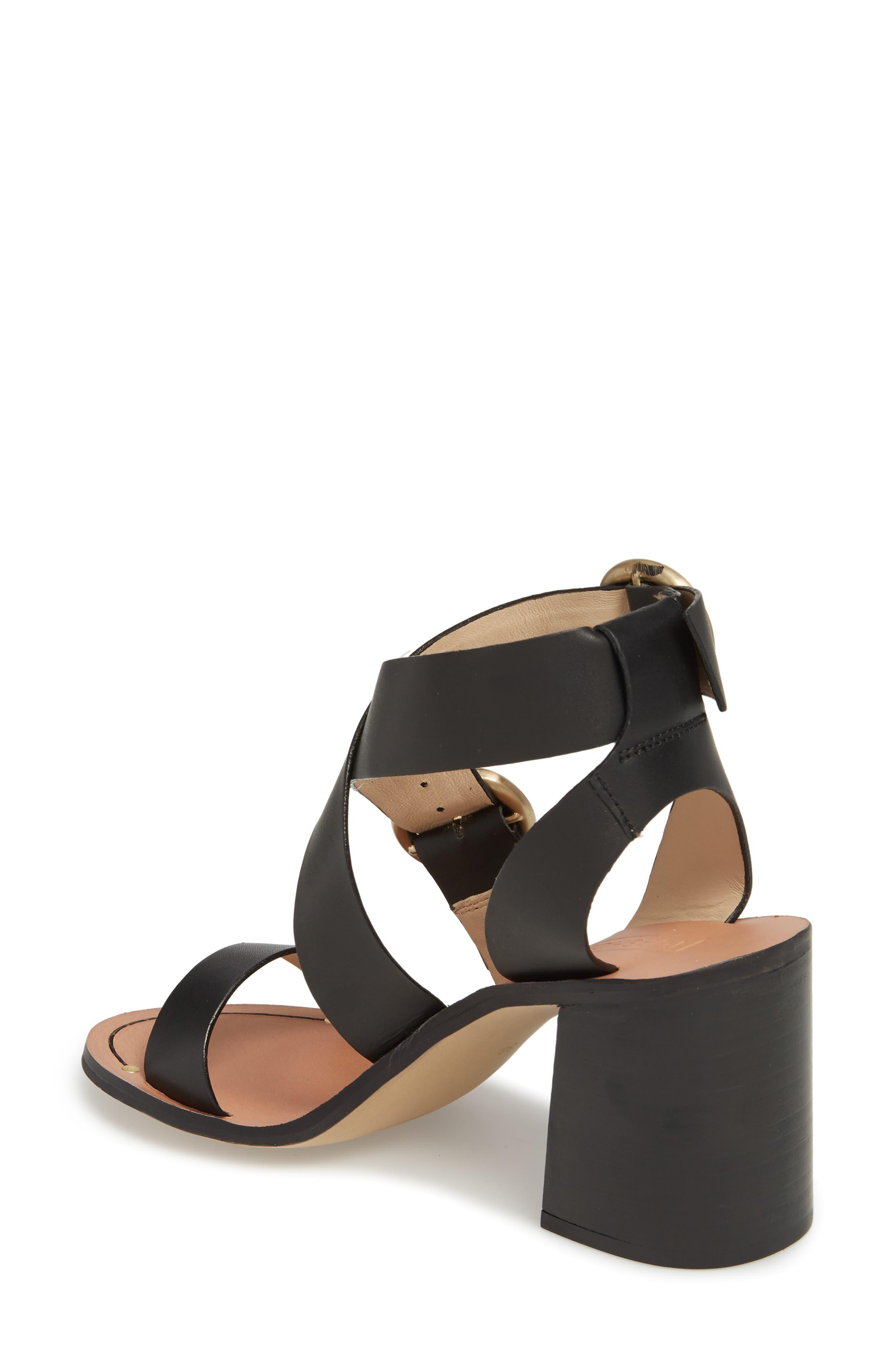 Natalie Buckled Cross Strap Sandal,                             Alternate thumbnail 2, color,                             Black Multi