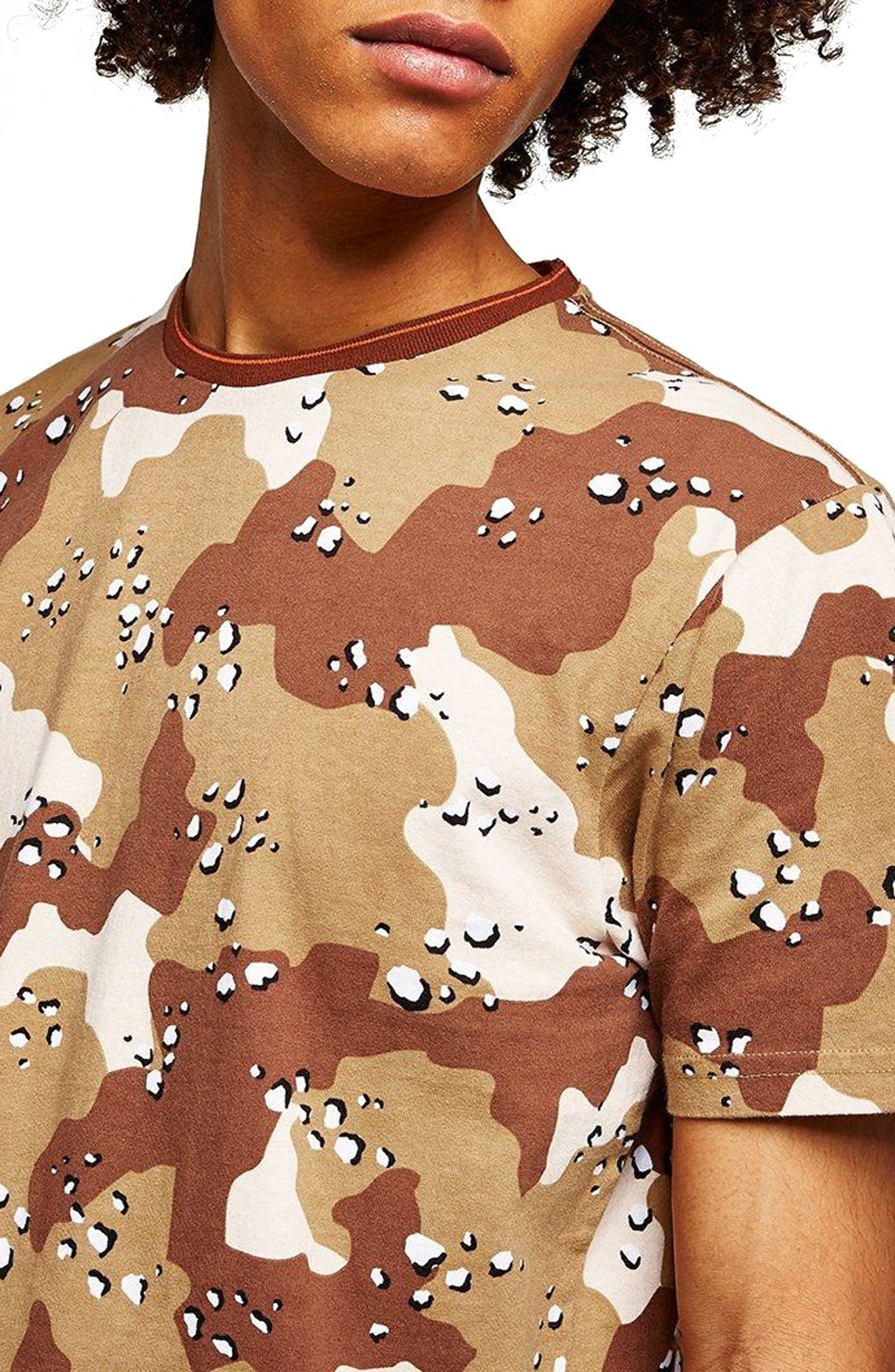 Camouflage Graphic T-Shirt,                             Main thumbnail 1, color,                             Beige Multi