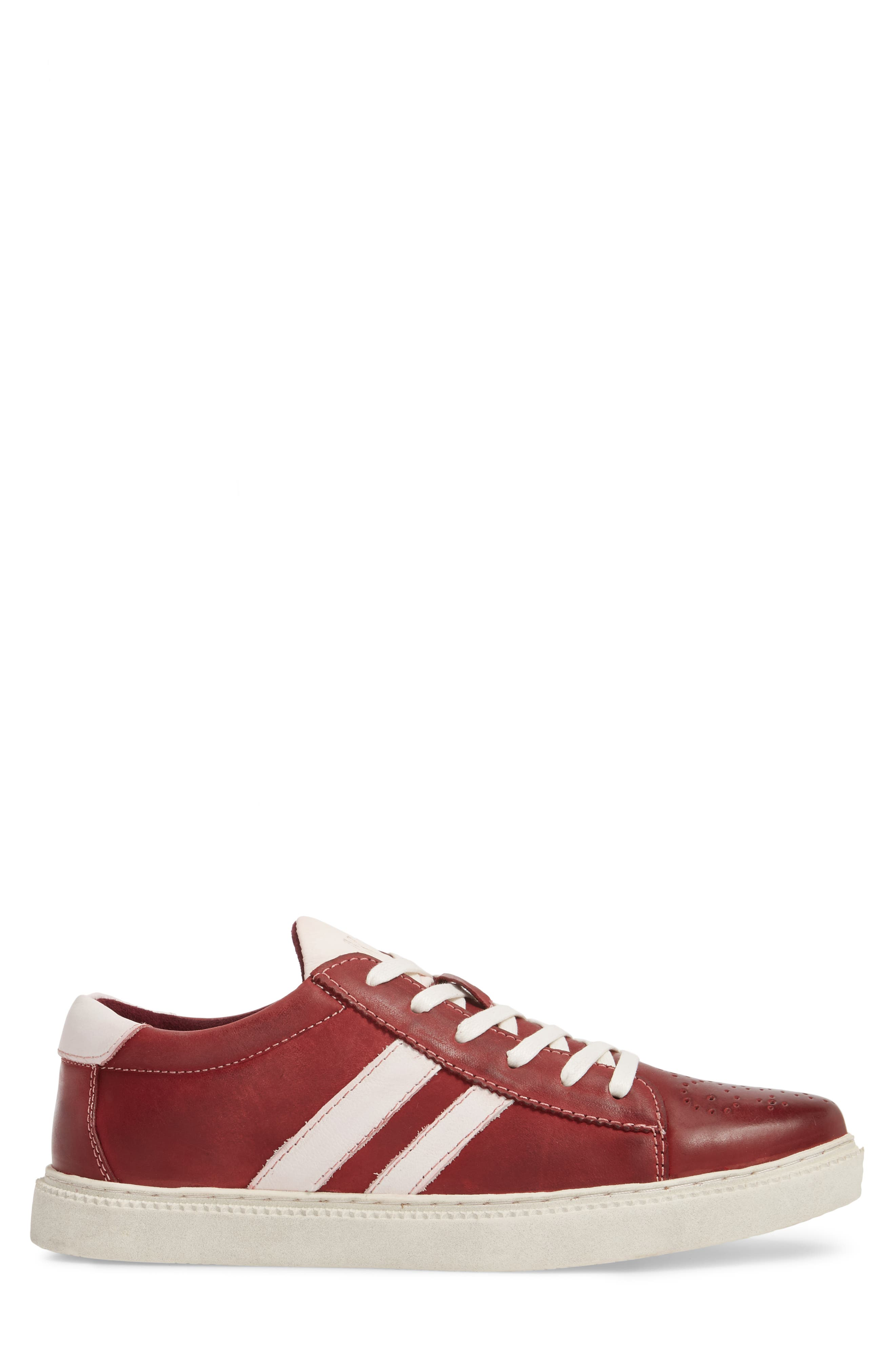 Madox Low Top Sneaker,                             Alternate thumbnail 3, color,                             Red