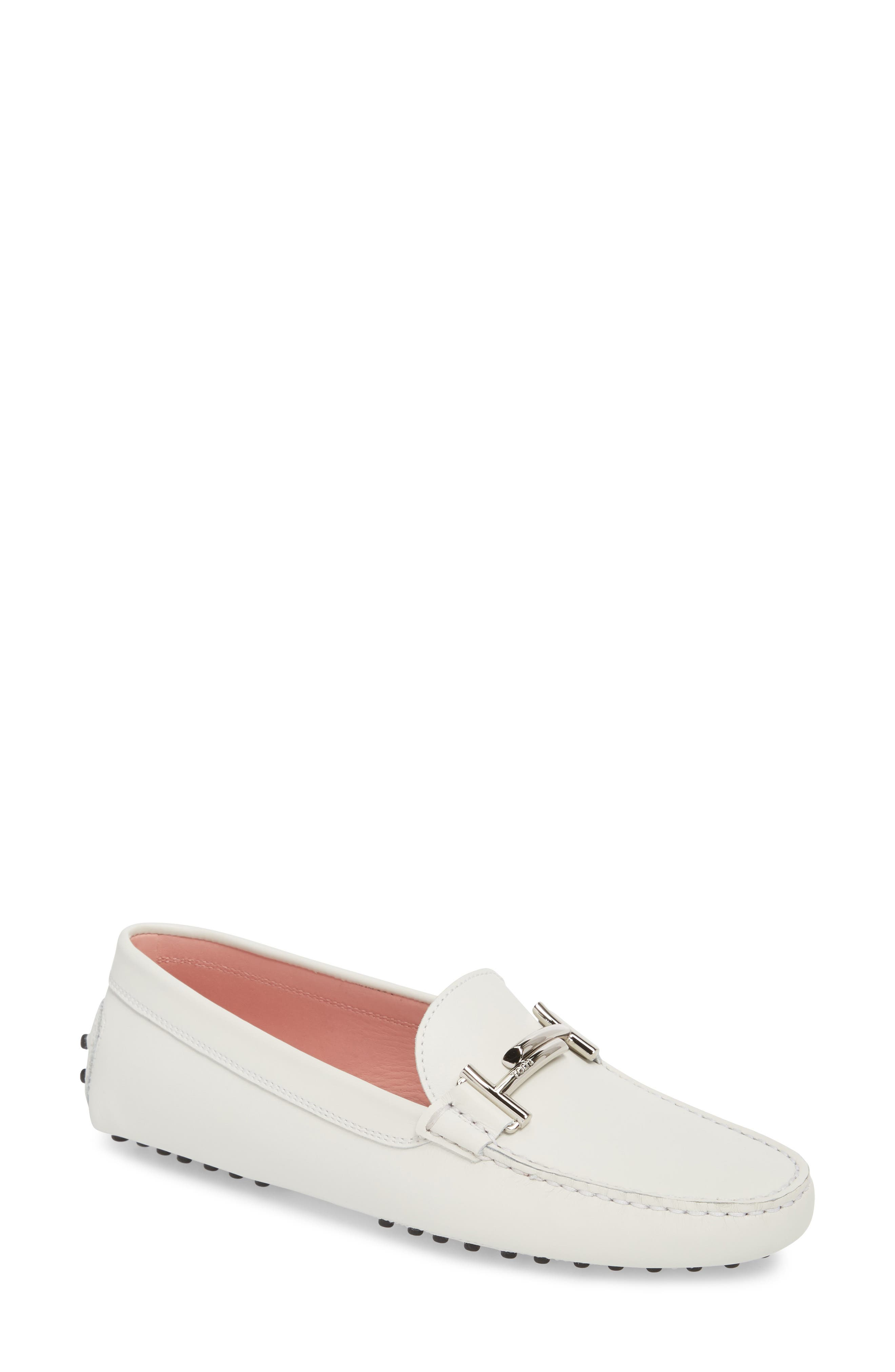 Gommini Double T Driving Moccasin in White