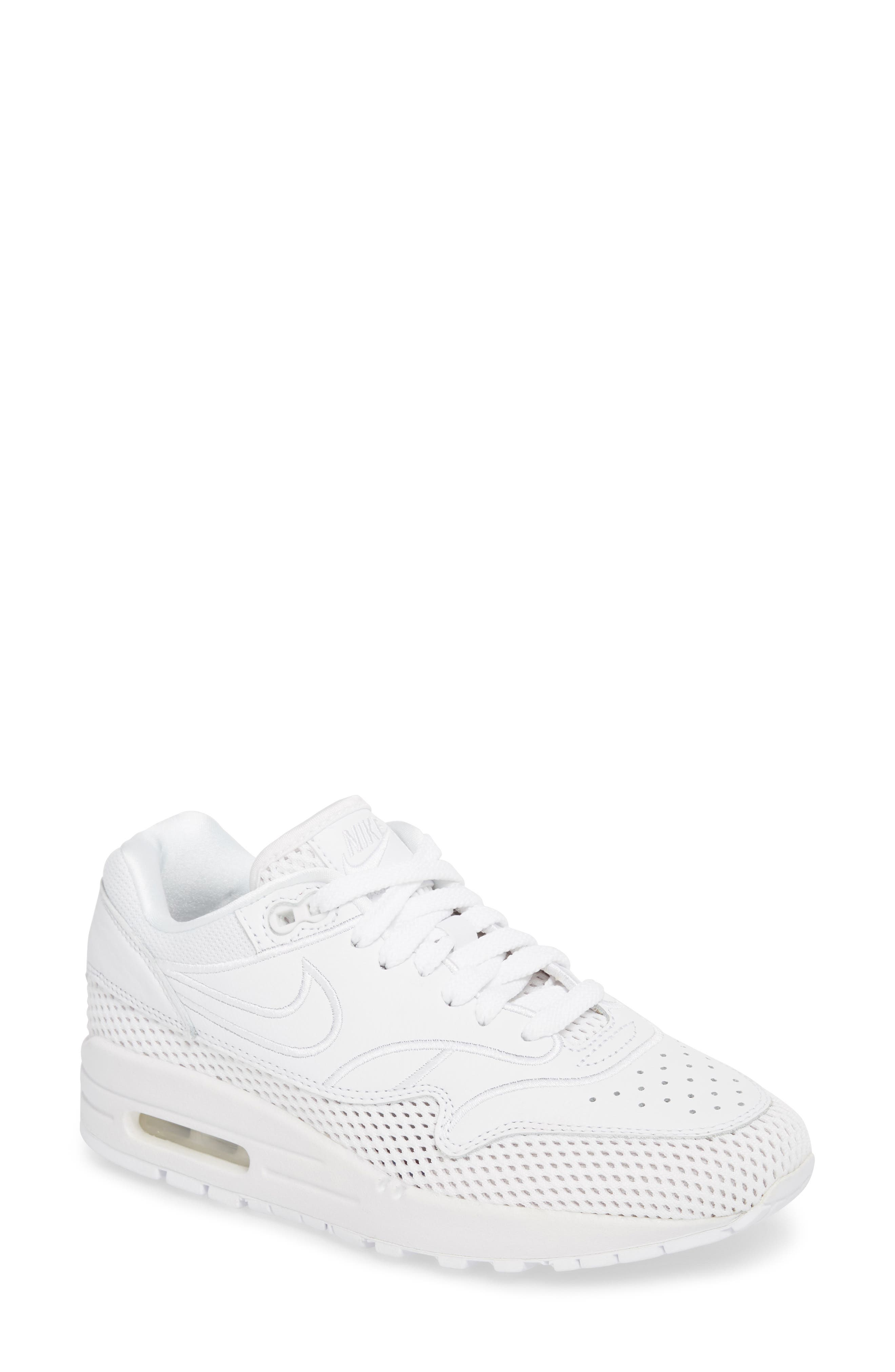 Air Max 1 SI Sneaker,                         Main,                         color, White/ White-Vast Grey