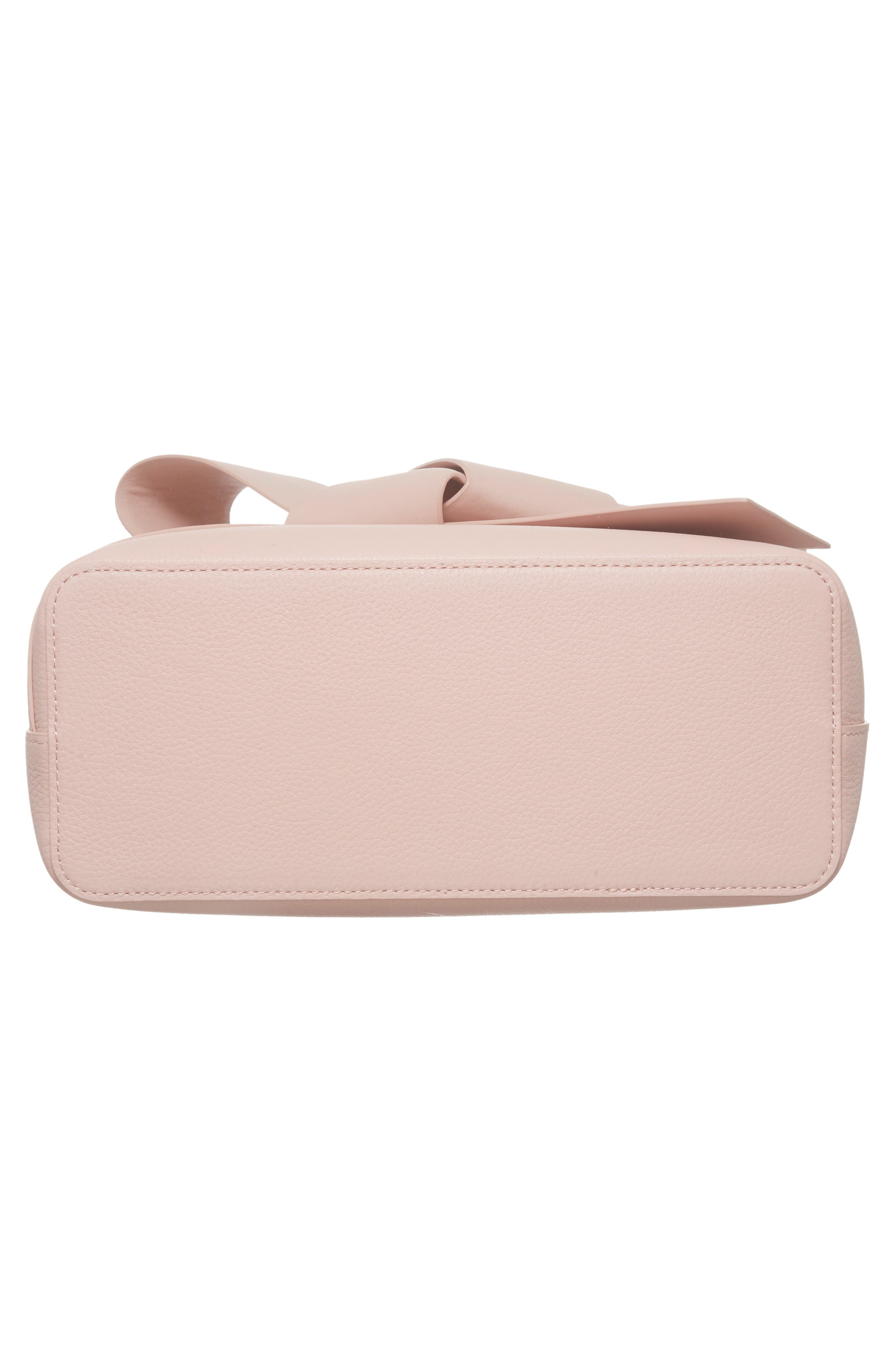 Giant Knot Leather Shopper,                             Alternate thumbnail 6, color,                             Nude Pink