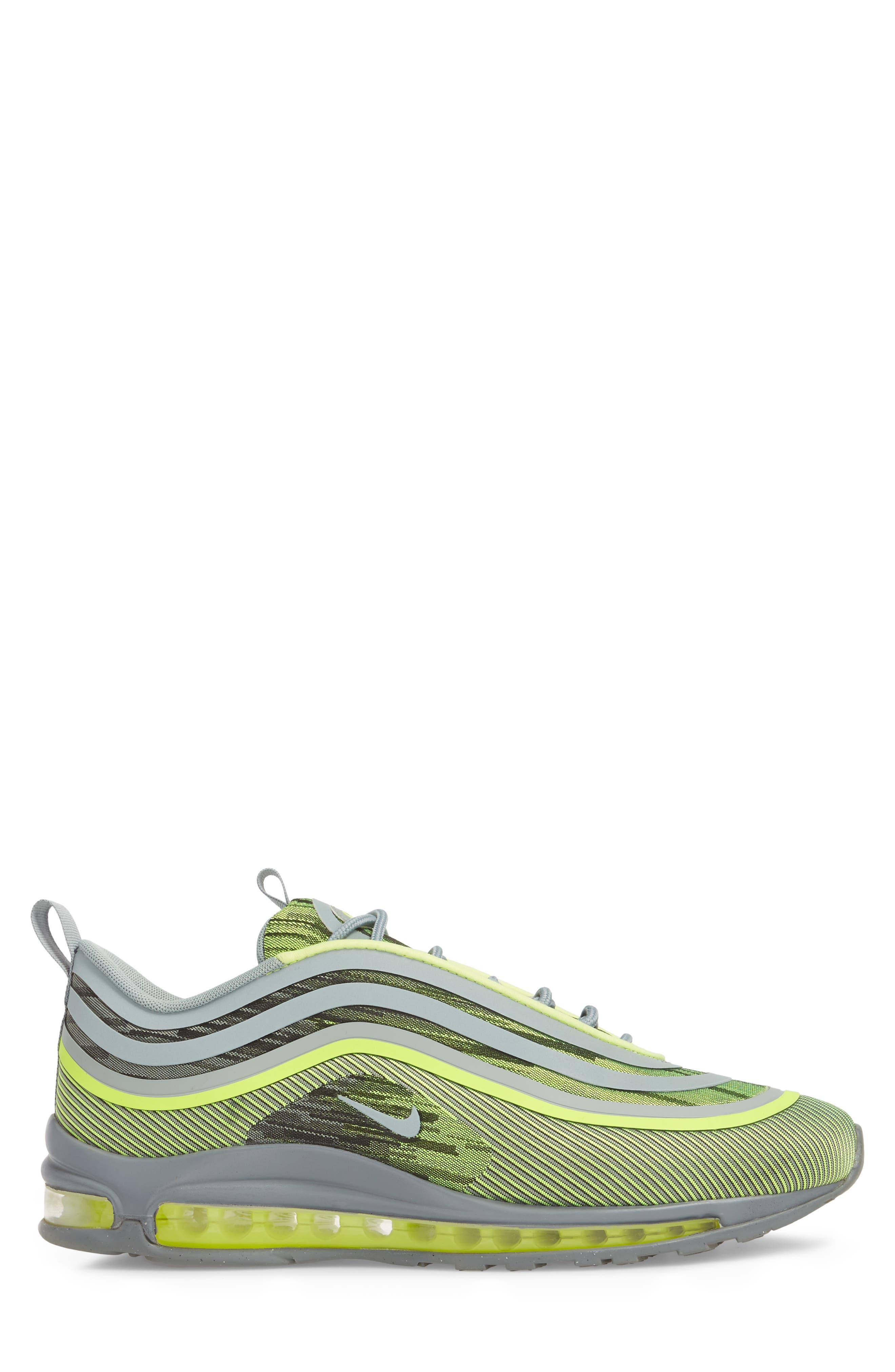 Air Max 97 Ultra '17 Sneaker,                             Alternate thumbnail 3, color,                             Volt/ Mica Green/ Cool Grey