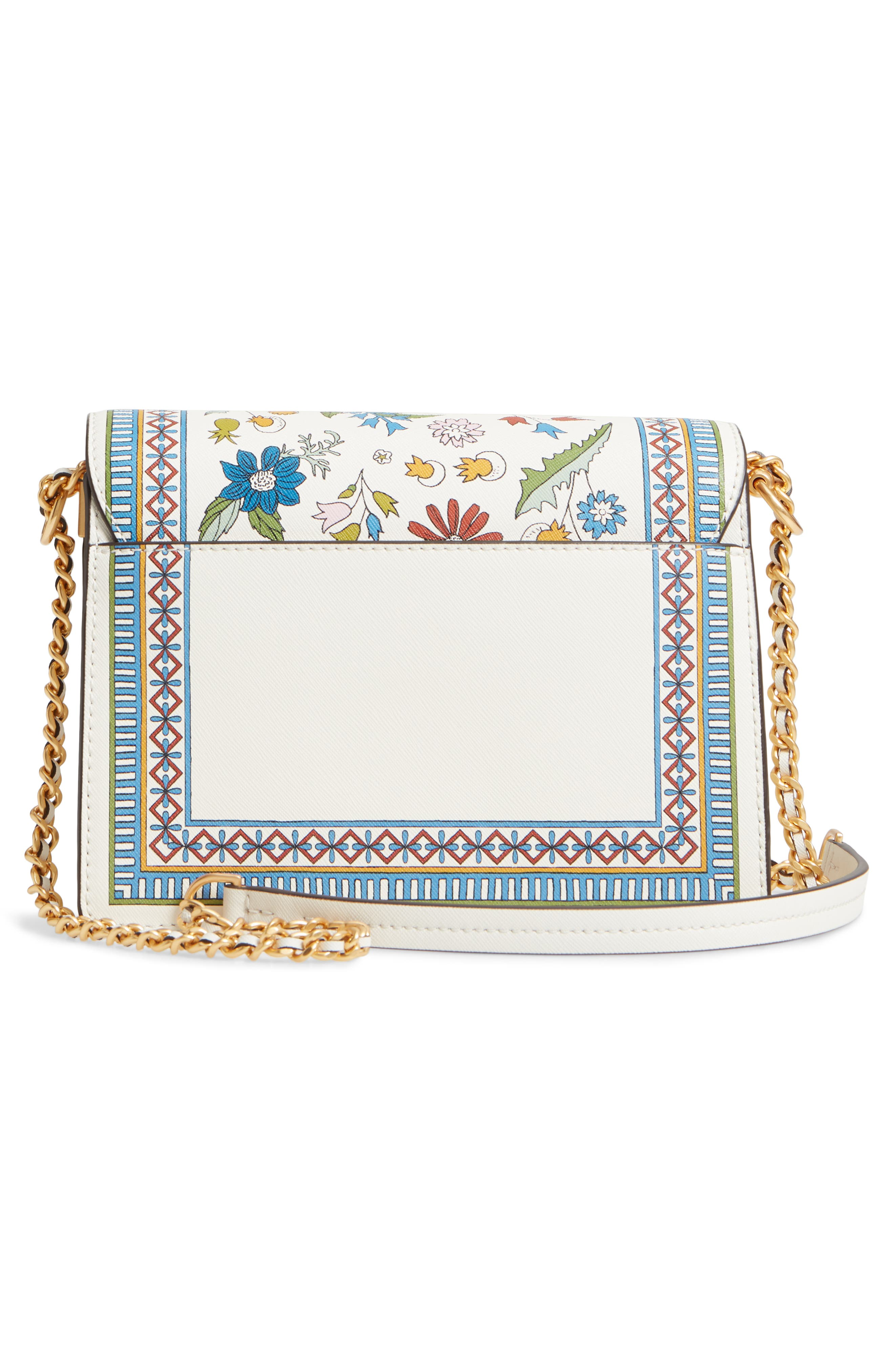 Robinson Floral Print Shoulder Bag,                             Alternate thumbnail 3, color,                             Meadow Sweet / New Ivory