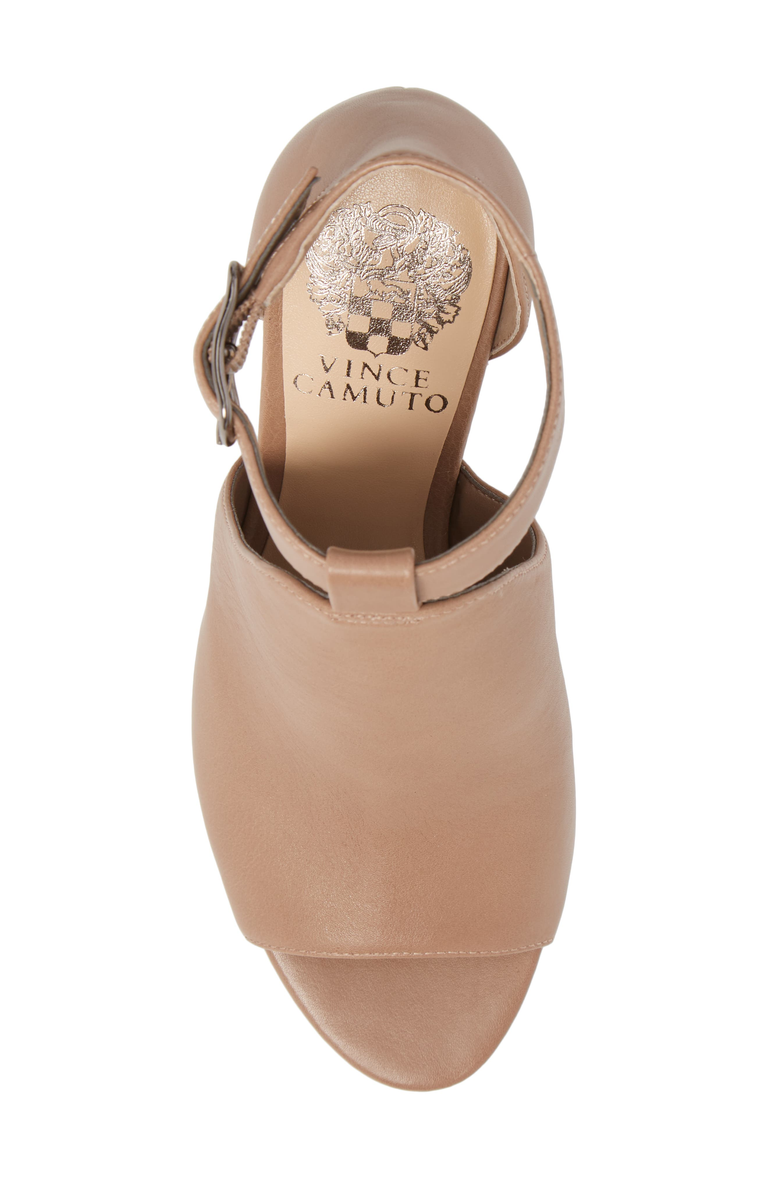 Adaren Peep Toe Sandal,                             Alternate thumbnail 5, color,                             Dusty Trail Leather