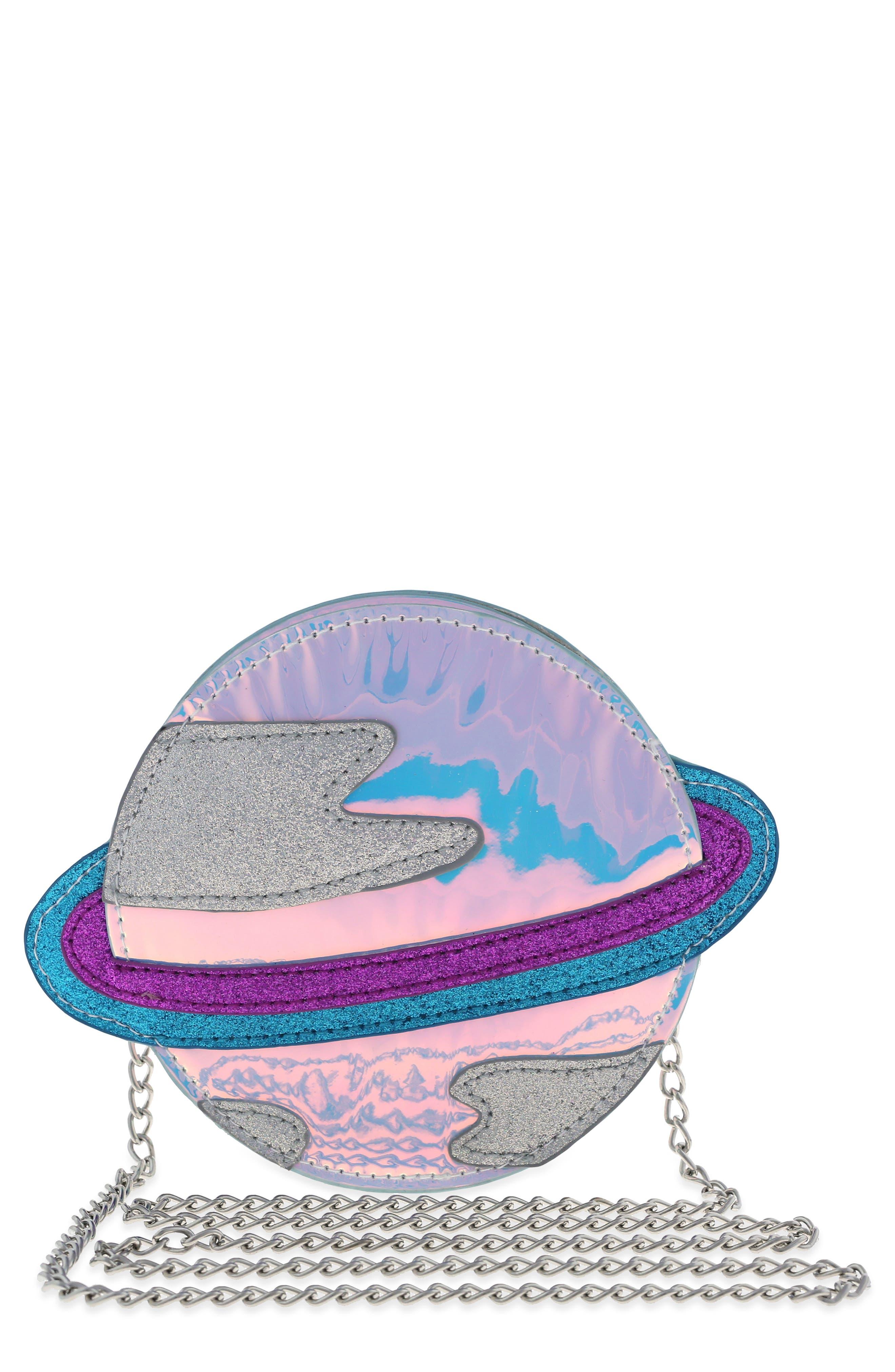 Glitter Planet Crossbody Bag,                             Main thumbnail 1, color,                             Multi Combo