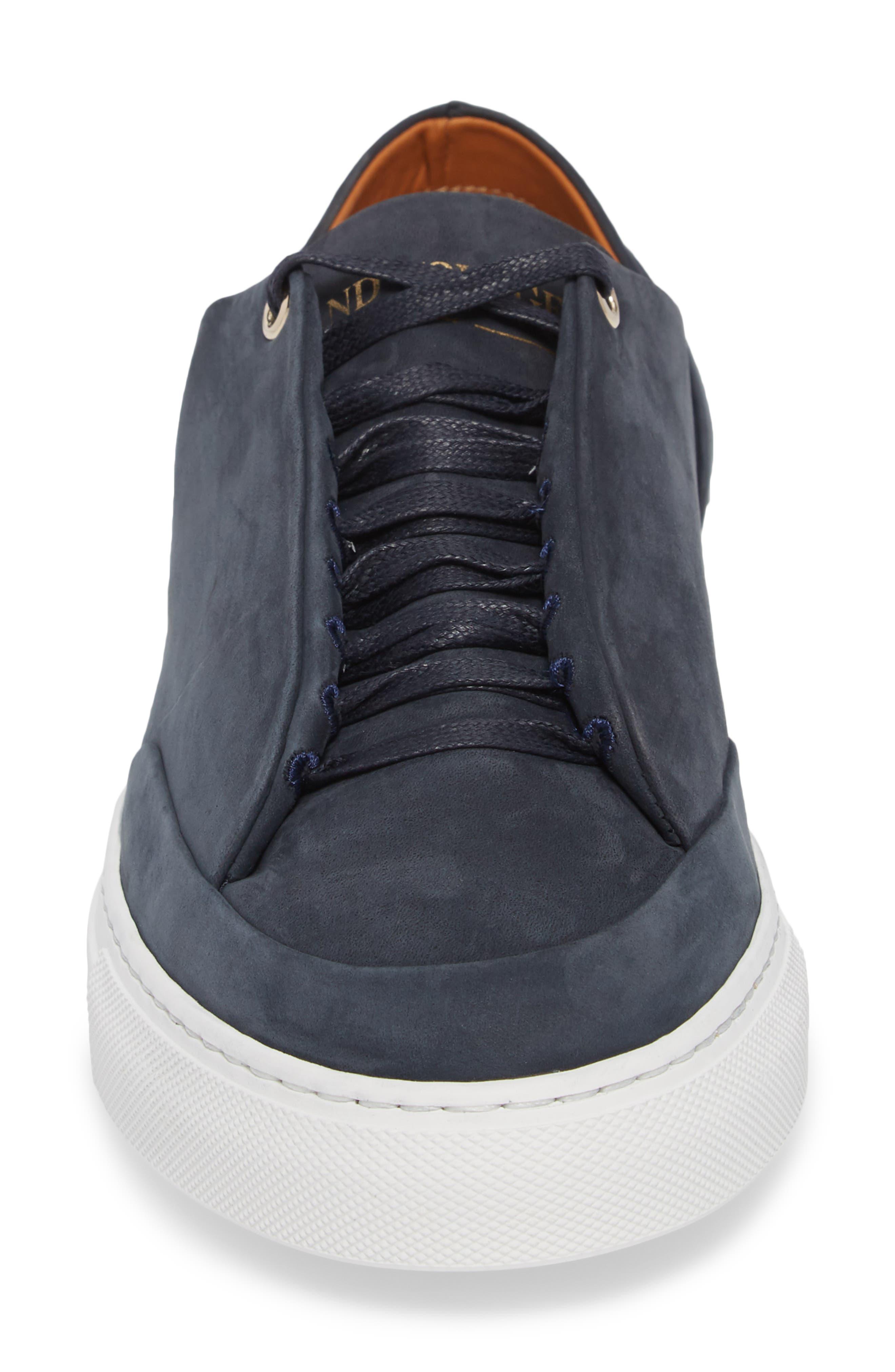 Avedon Sneaker,                             Alternate thumbnail 4, color,                             Navy Nubuck Leather