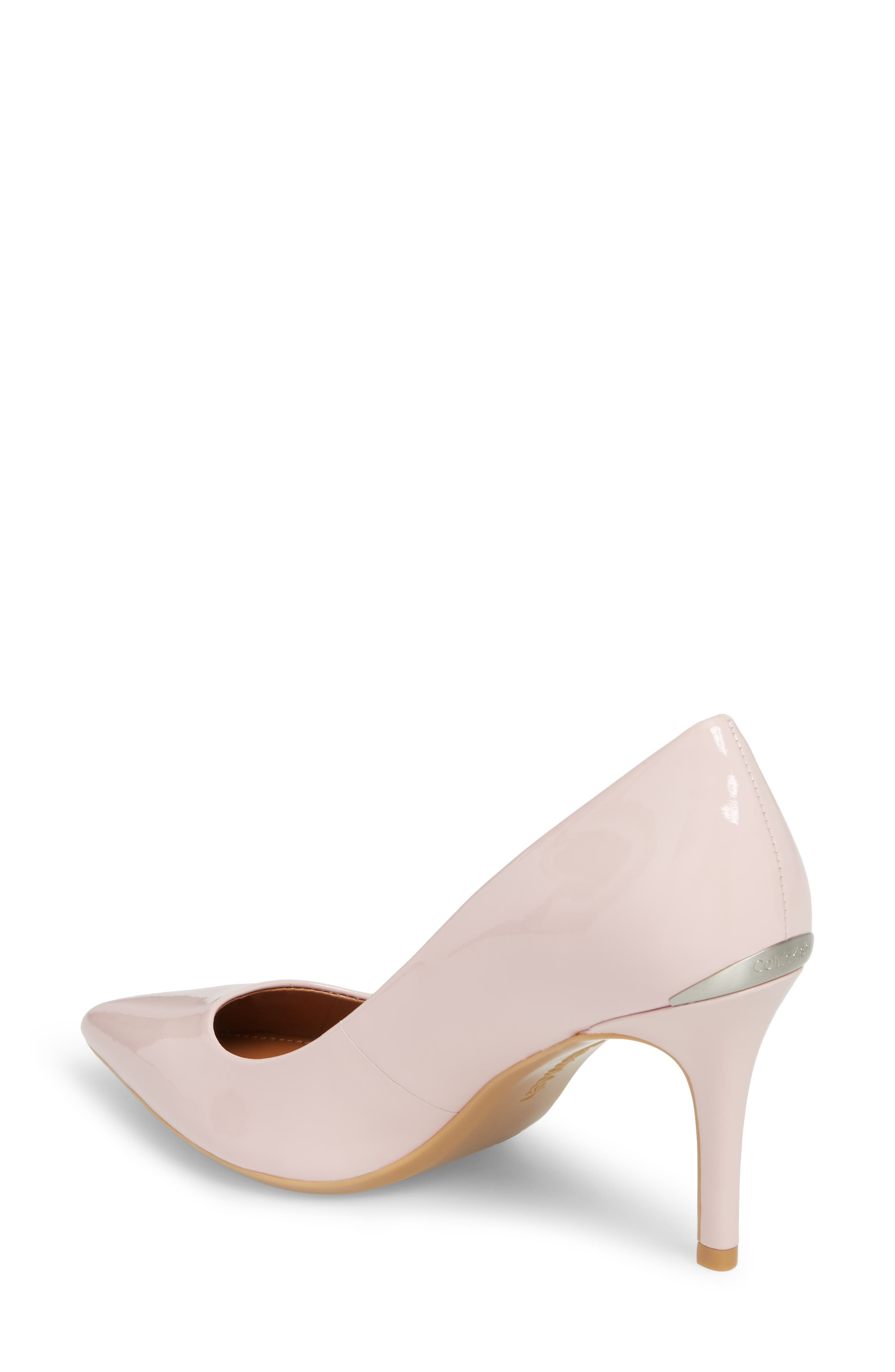'Gayle' Pointy Toe Pump,                             Alternate thumbnail 2, color,                             Petal Pink Leather